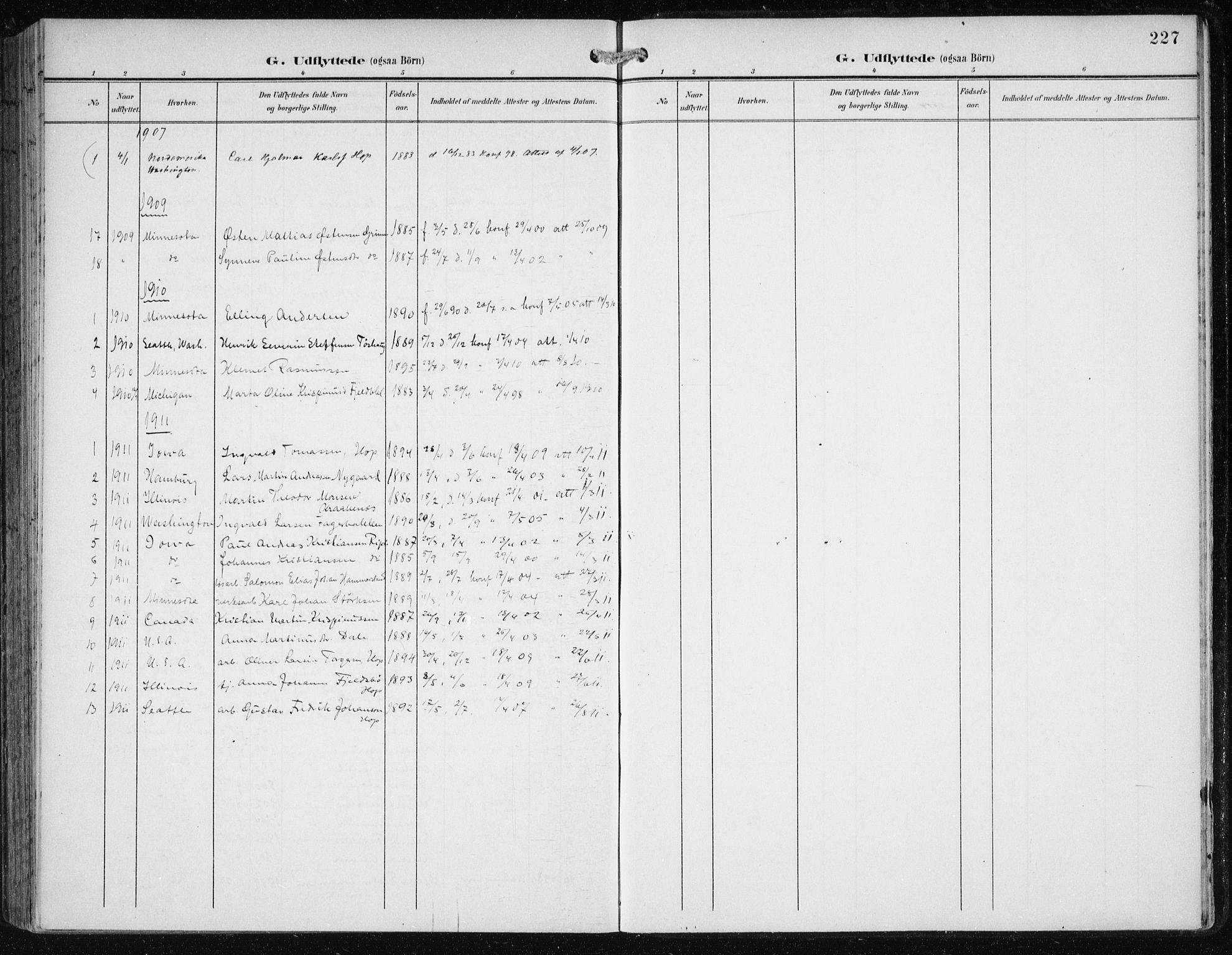 SAB, Fana Sokneprestembete, H/Haa/Haai/L0003: Ministerialbok nr. I 3, 1900-1912, s. 227