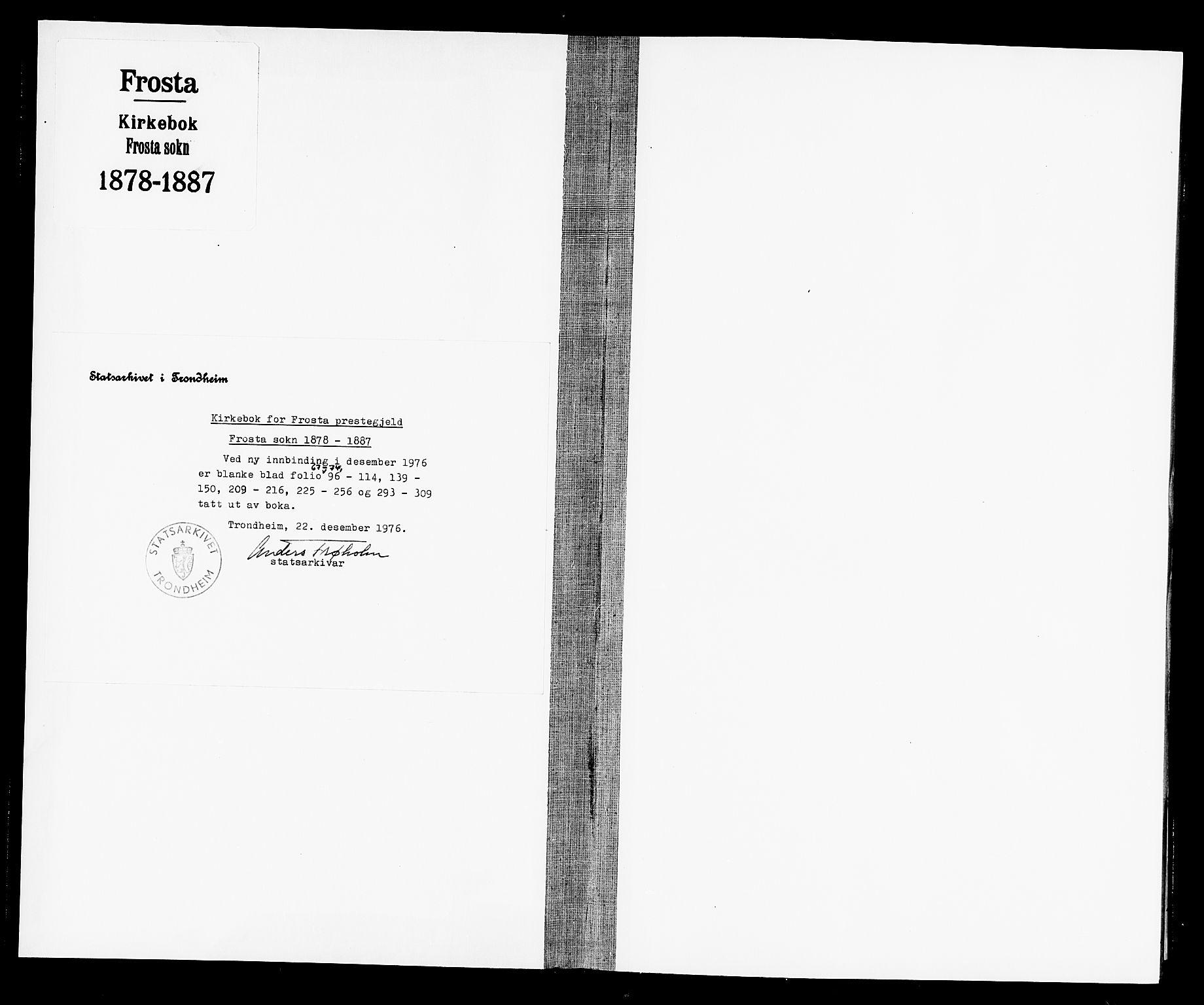 SAT, Ministerialprotokoller, klokkerbøker og fødselsregistre - Nord-Trøndelag, 713/L0120: Ministerialbok nr. 713A09, 1878-1887