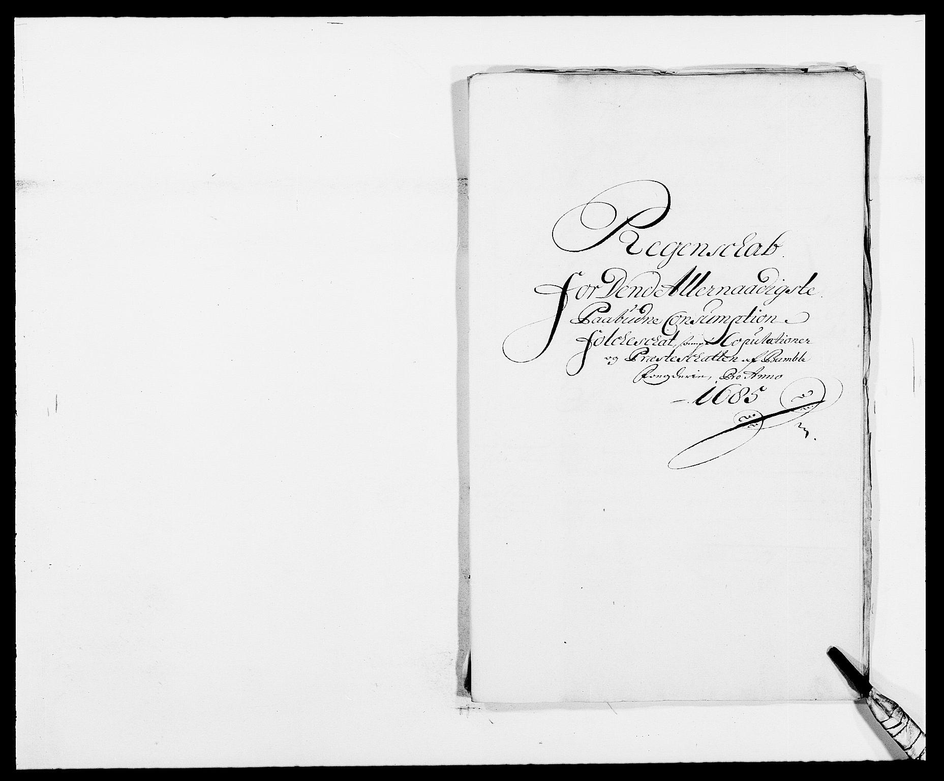 RA, Rentekammeret inntil 1814, Reviderte regnskaper, Fogderegnskap, R34/L2048: Fogderegnskap Bamble, 1685-1687, s. 128