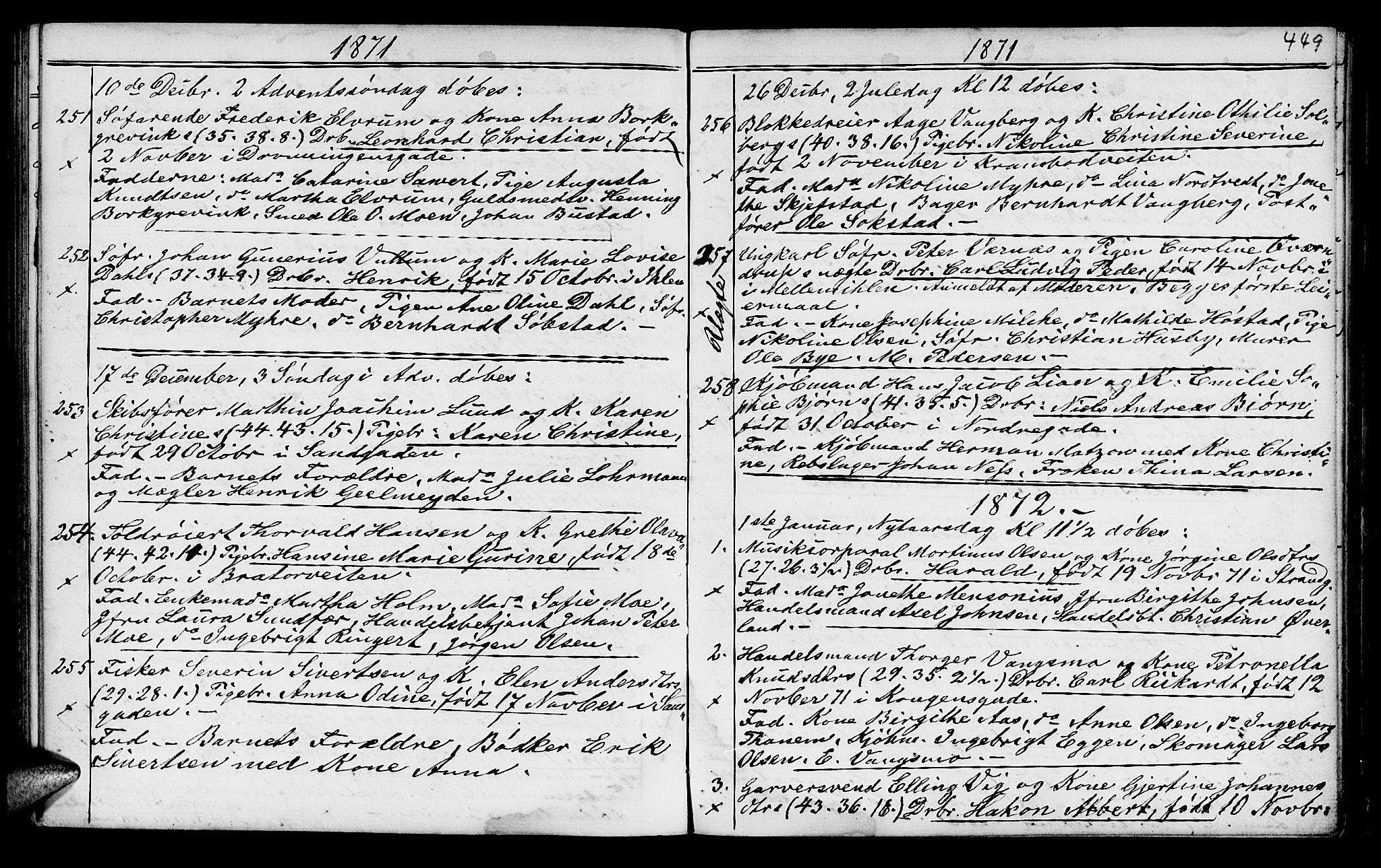 SAT, Ministerialprotokoller, klokkerbøker og fødselsregistre - Sør-Trøndelag, 602/L0140: Klokkerbok nr. 602C08, 1864-1872, s. 448-449