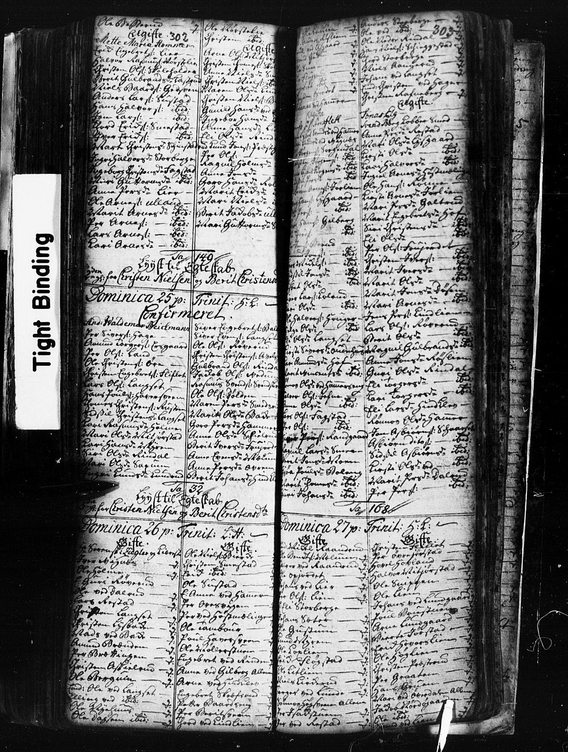 SAH, Fåberg prestekontor, Klokkerbok nr. 1, 1727-1767, s. 302-303