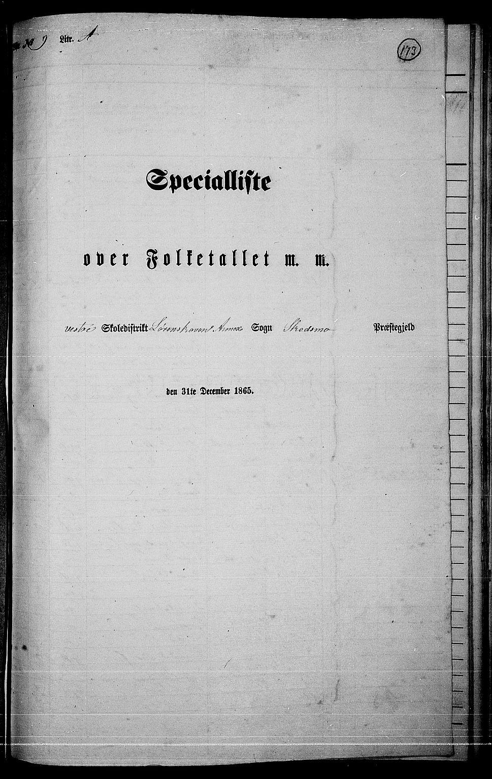 RA, Folketelling 1865 for 0231P Skedsmo prestegjeld, 1865, s. 152