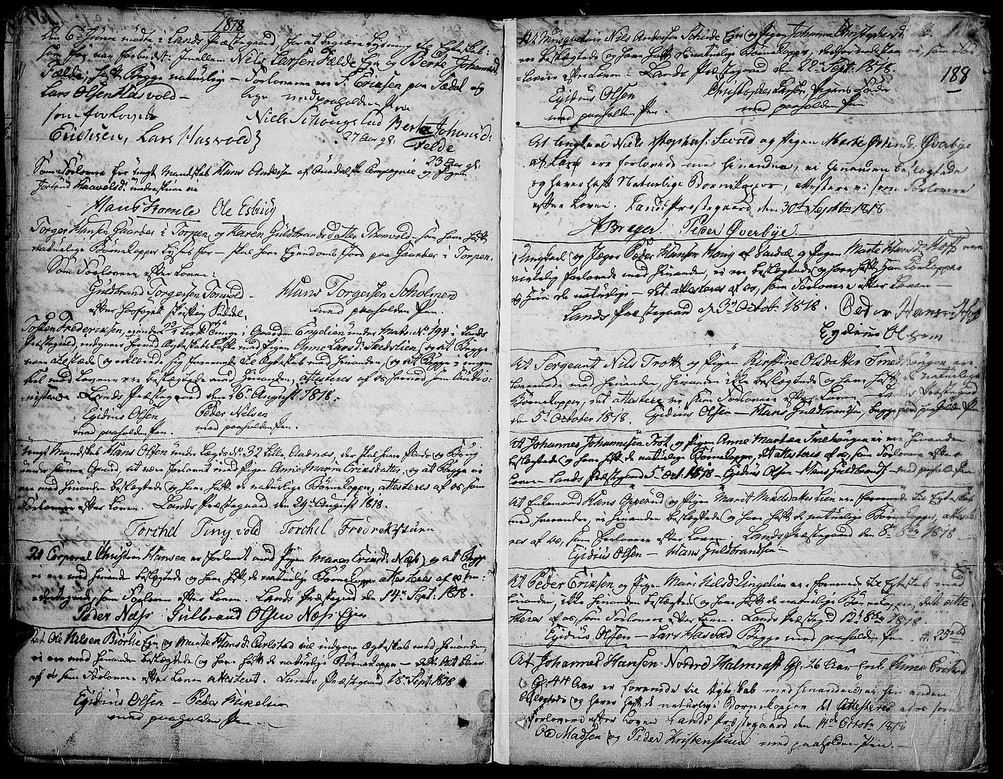 SAH, Land prestekontor, Ministerialbok nr. 6, 1784-1813, s. 188