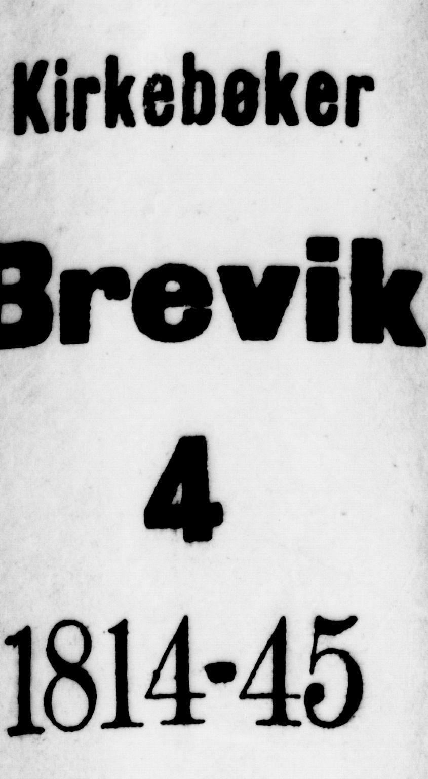 SAKO, Brevik kirkebøker, G/Ga/L0001: Klokkerbok nr. 1, 1814-1845