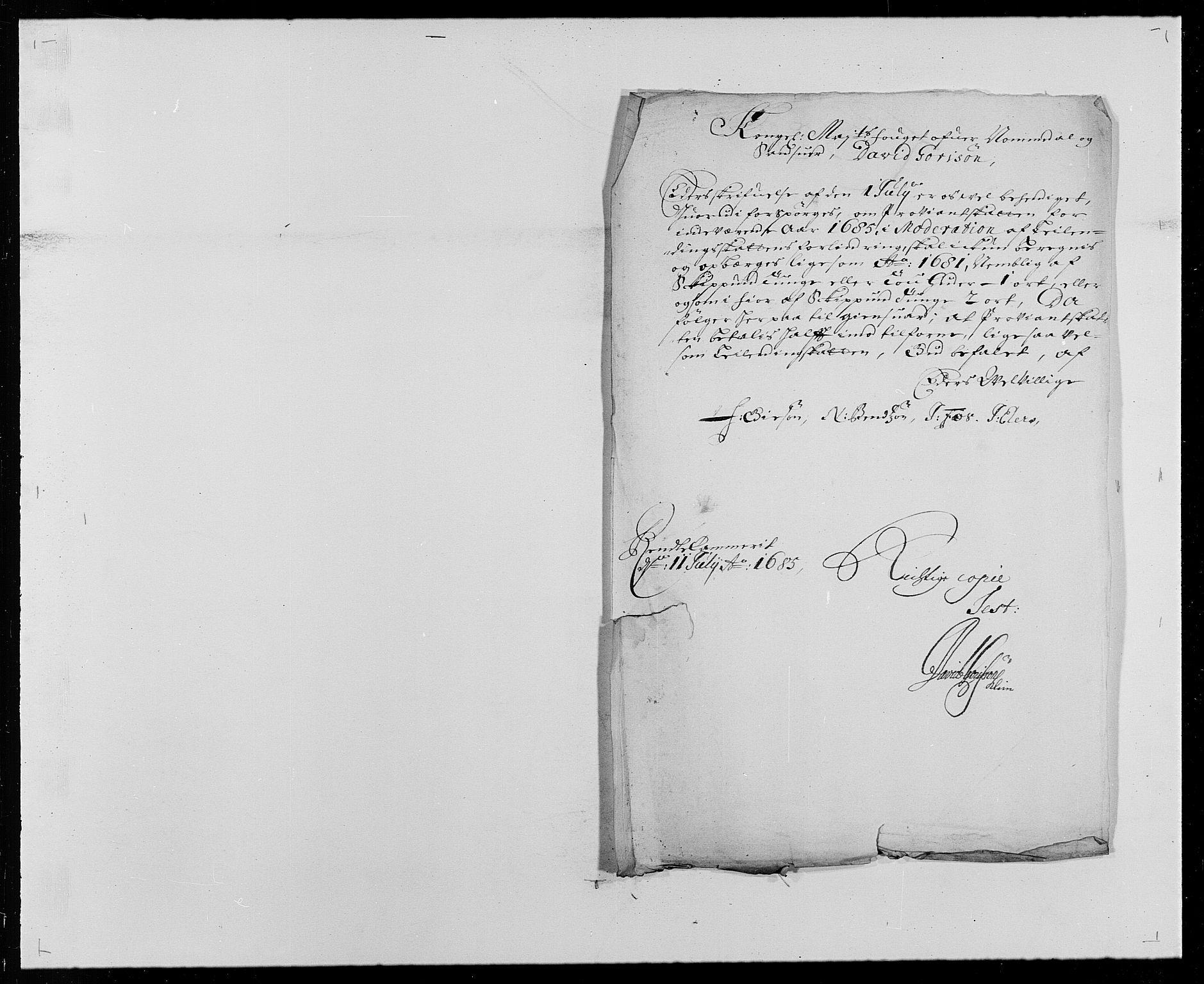 RA, Rentekammeret inntil 1814, Reviderte regnskaper, Fogderegnskap, R24/L1571: Fogderegnskap Numedal og Sandsvær, 1679-1686, s. 262