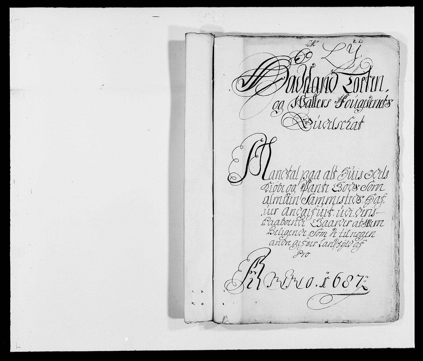 RA, Rentekammeret inntil 1814, Reviderte regnskaper, Fogderegnskap, R18/L1286: Fogderegnskap Hadeland, Toten og Valdres, 1687, s. 153