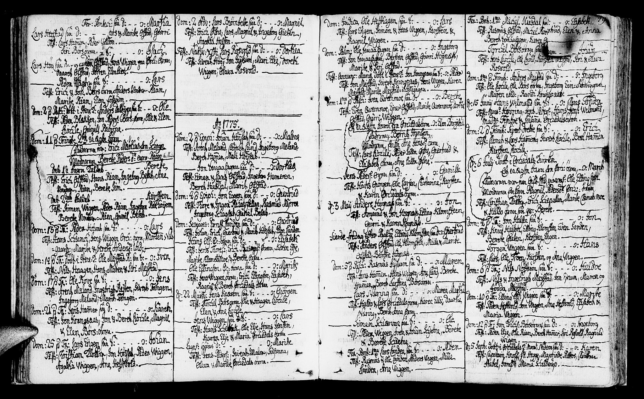 SAT, Ministerialprotokoller, klokkerbøker og fødselsregistre - Sør-Trøndelag, 665/L0768: Ministerialbok nr. 665A03, 1754-1803, s. 78