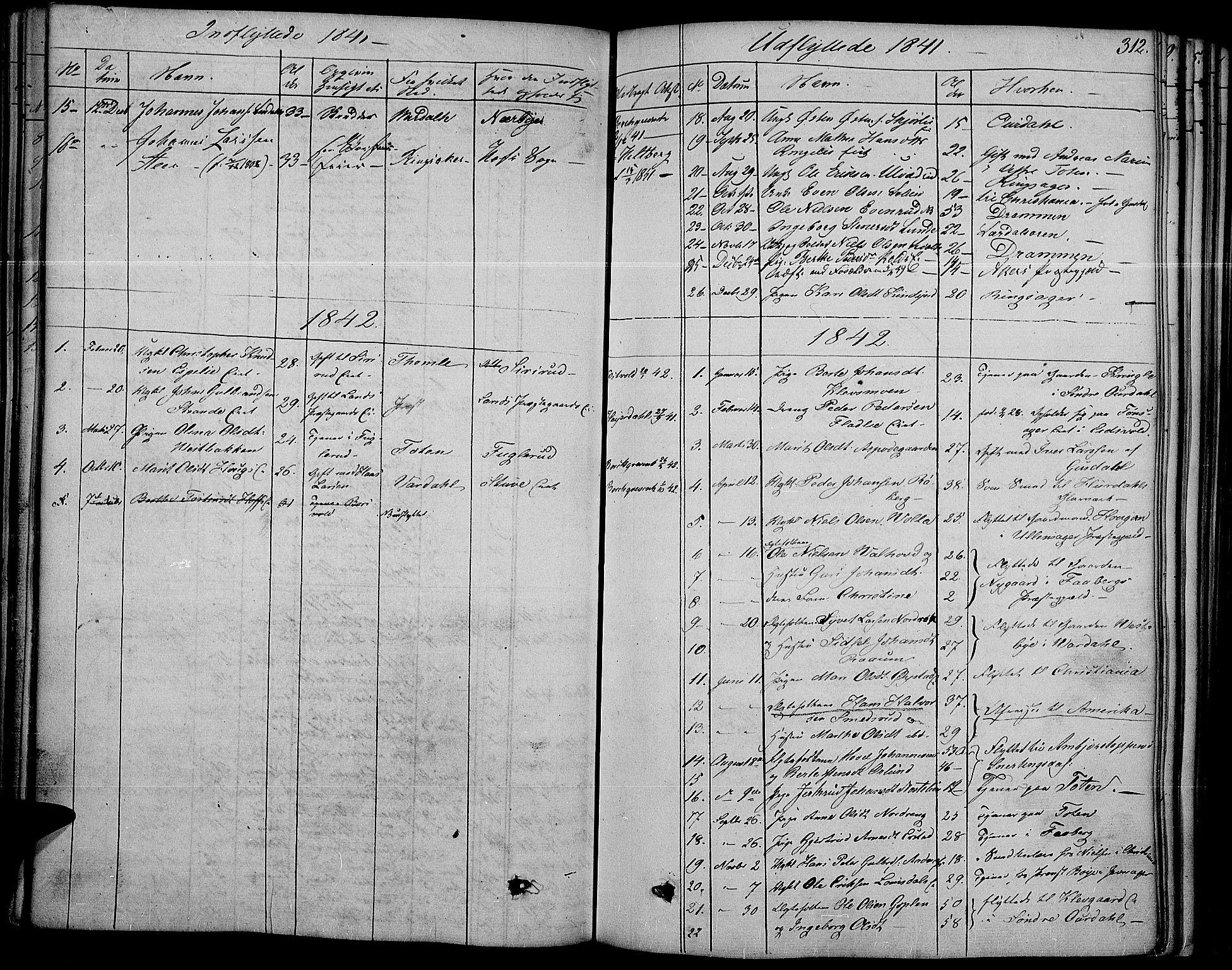 SAH, Land prestekontor, Ministerialbok nr. 8, 1830-1846, s. 312