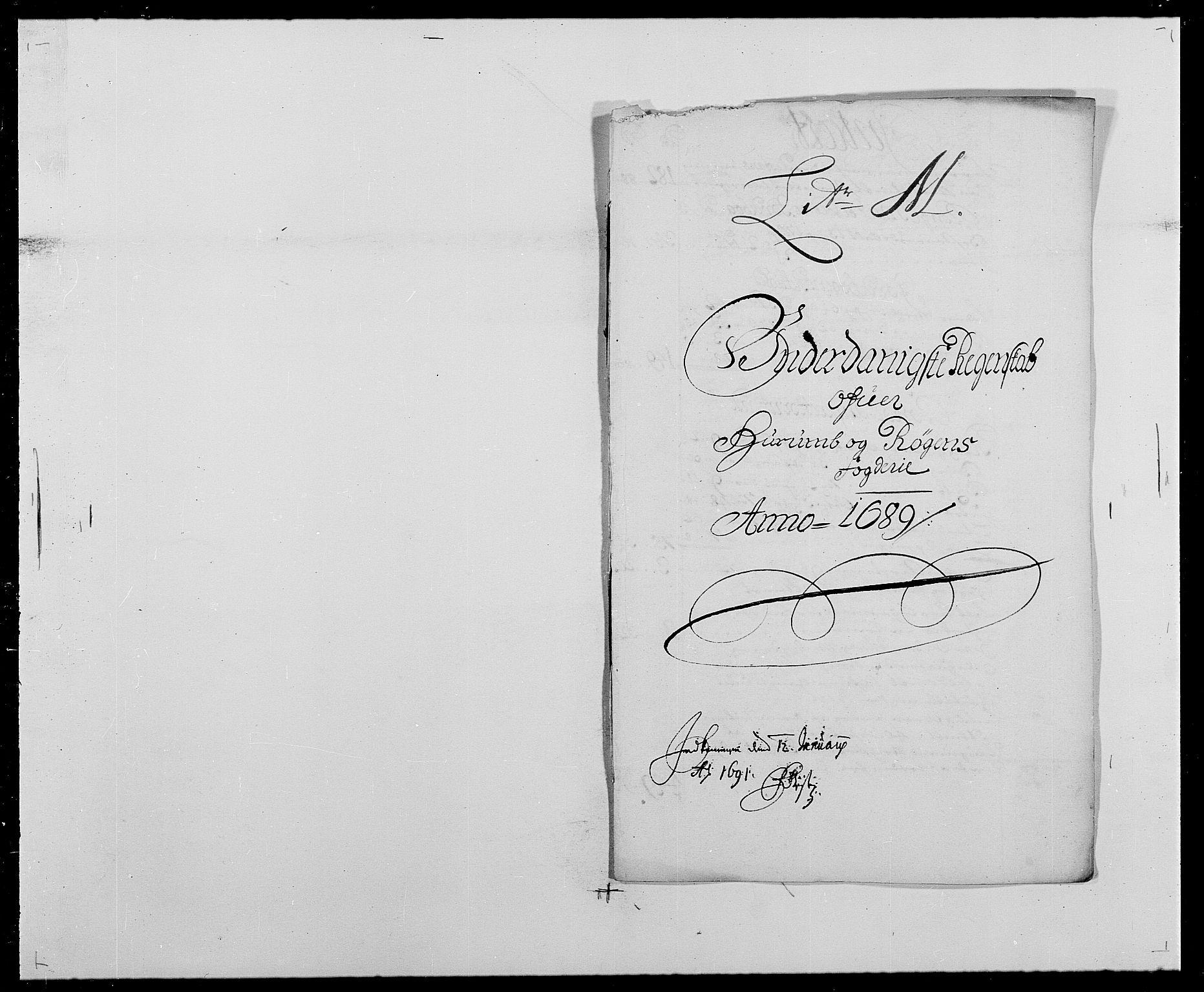 RA, Rentekammeret inntil 1814, Reviderte regnskaper, Fogderegnskap, R29/L1693: Fogderegnskap Hurum og Røyken, 1688-1693, s. 85