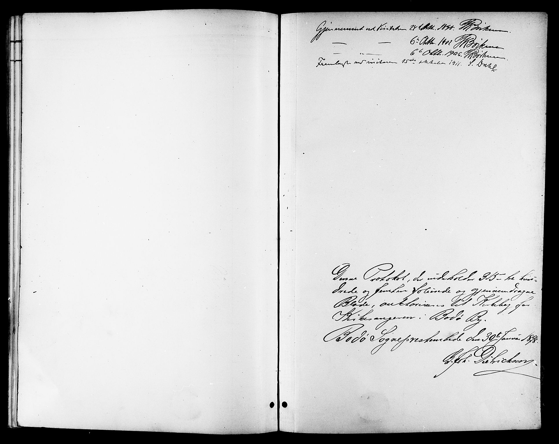 SAT, Ministerialprotokoller, klokkerbøker og fødselsregistre - Nordland, 801/L0033: Klokkerbok nr. 801C08, 1898-1910