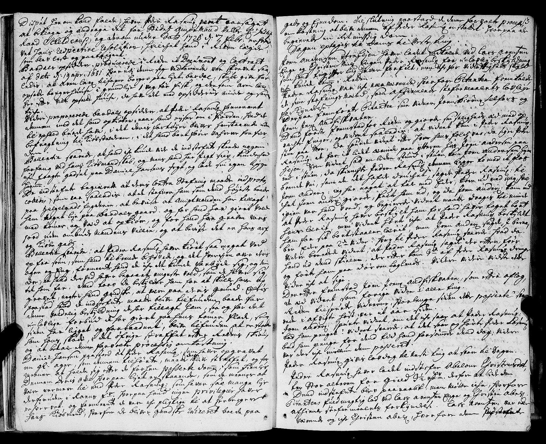 SAT, Helgeland sorenskriveri, 1/1A/L0007: Tingbok 8, 1726-1730, s. 12b-13a
