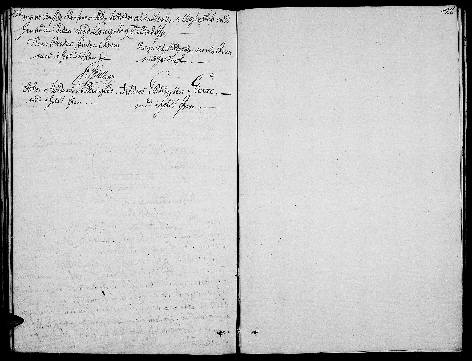 SAH, Vang prestekontor, Valdres, Ministerialbok nr. 3, 1809-1831, s. 426-427