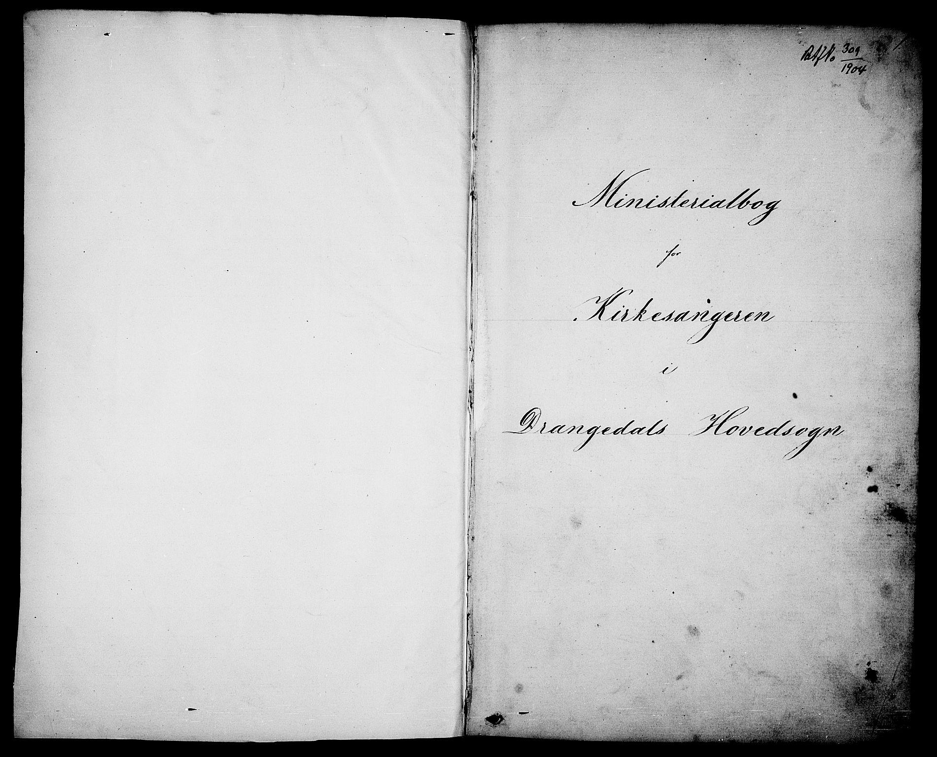 SAKO, Drangedal kirkebøker, G/Ga/L0002: Klokkerbok nr. I 2, 1856-1887, s. 1