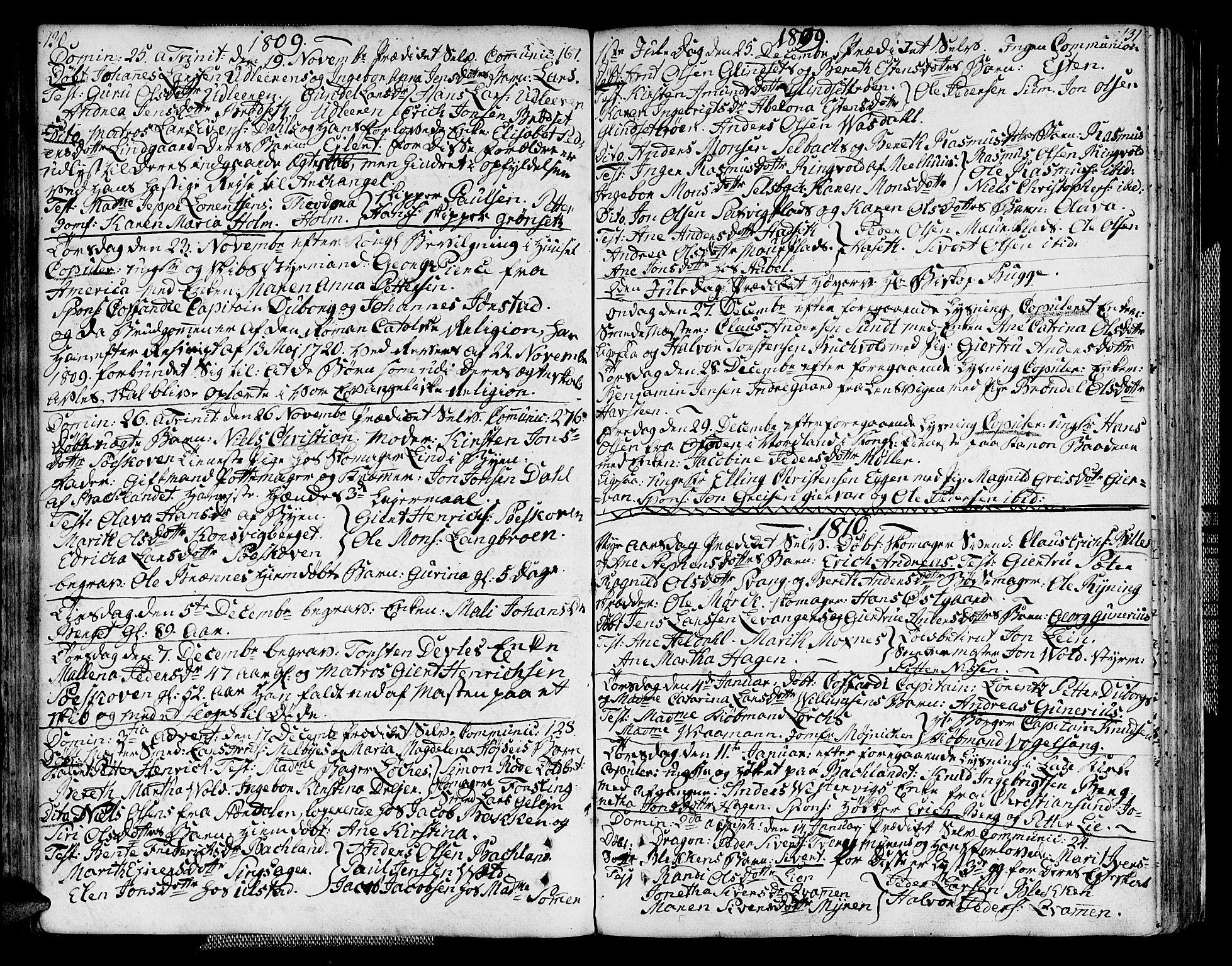 SAT, Ministerialprotokoller, klokkerbøker og fødselsregistre - Sør-Trøndelag, 604/L0181: Ministerialbok nr. 604A02, 1798-1817, s. 130-131