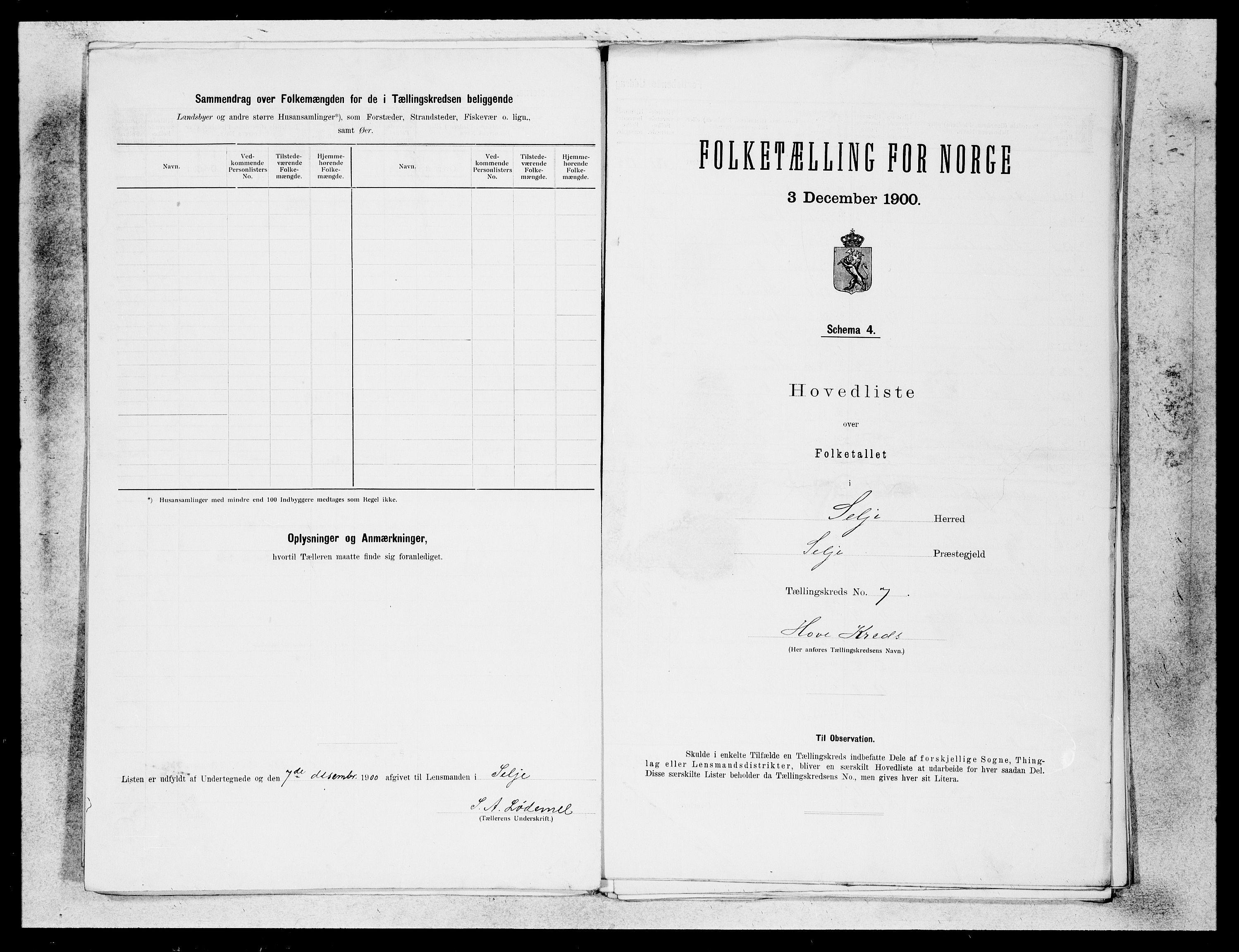 SAB, Folketelling 1900 for 1441 Selje herred, 1900, s. 13