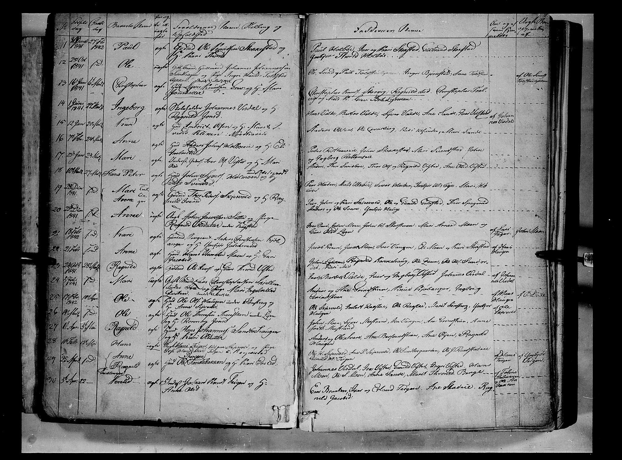 SAH, Vågå prestekontor, Ministerialbok nr. 5 /1, 1842-1856, s. 2