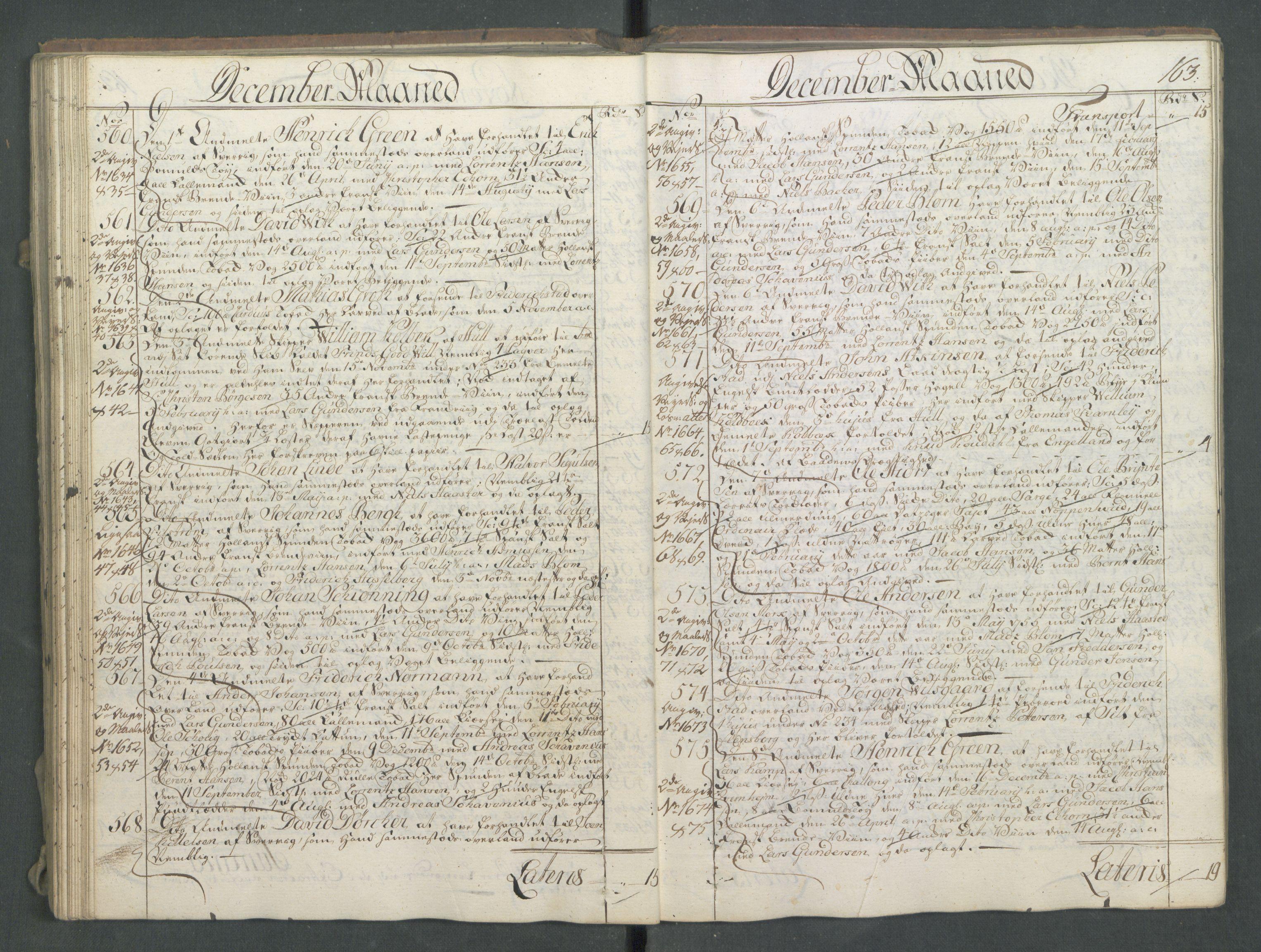 RA, Generaltollkammeret, tollregnskaper, R01/L0028: Tollregnskaper Fredrikshald, 1756, s. 163