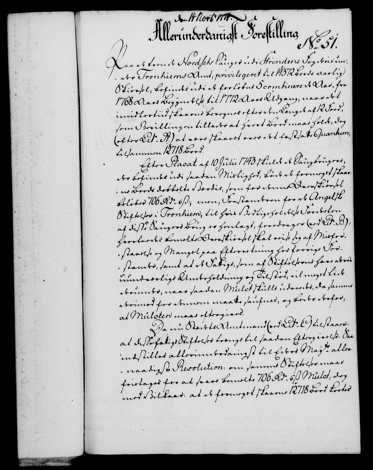 RA, Rentekammeret, Kammerkanselliet, G/Gf/Gfa/L0056: Norsk relasjons- og resolusjonsprotokoll (merket RK 52.56), 1774, s. 207