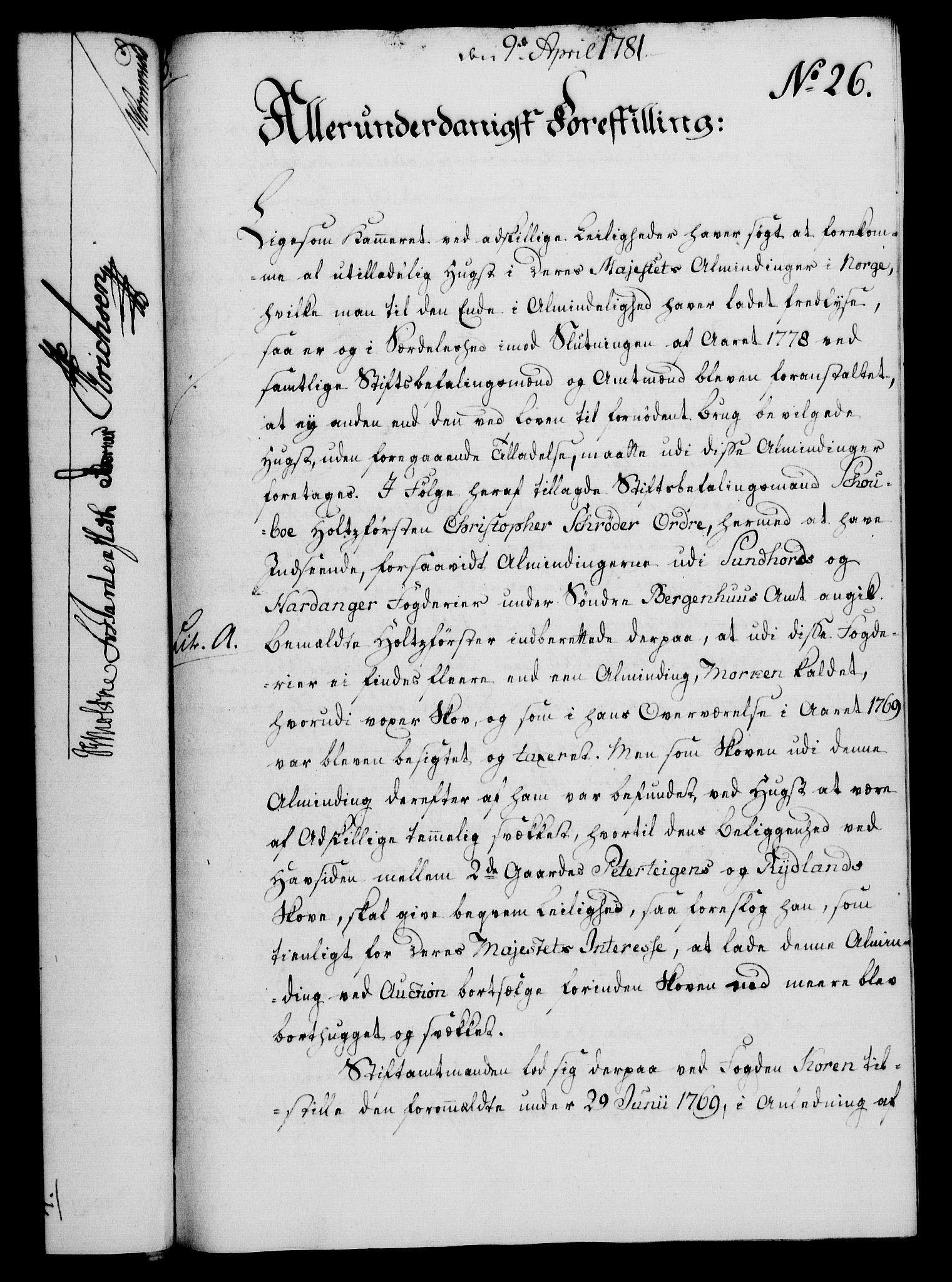RA, Rentekammeret, Kammerkanselliet, G/Gf/Gfa/L0063: Norsk relasjons- og resolusjonsprotokoll (merket RK 52.63), 1781, s. 191