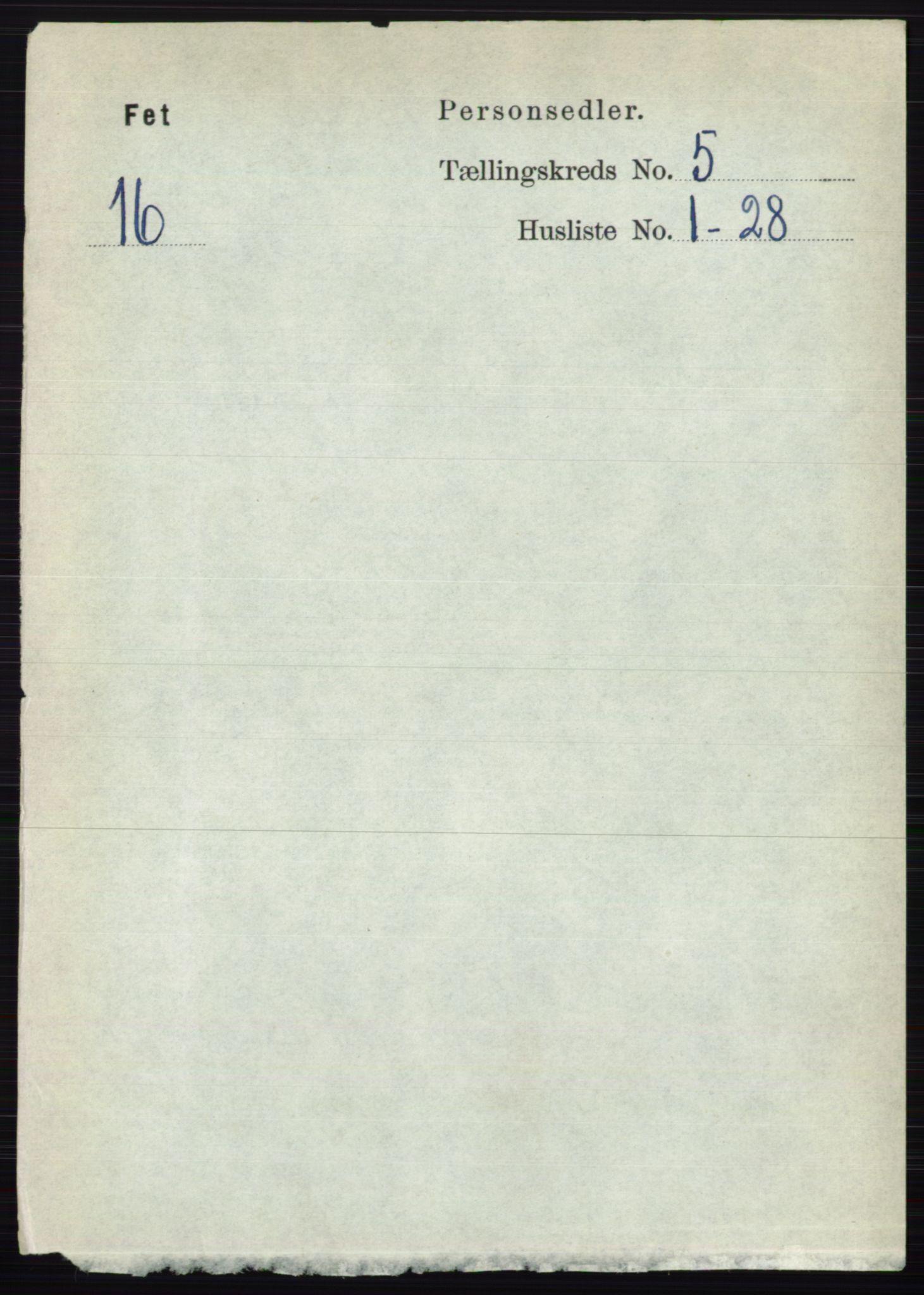 RA, Folketelling 1891 for 0227 Fet herred, 1891, s. 1591