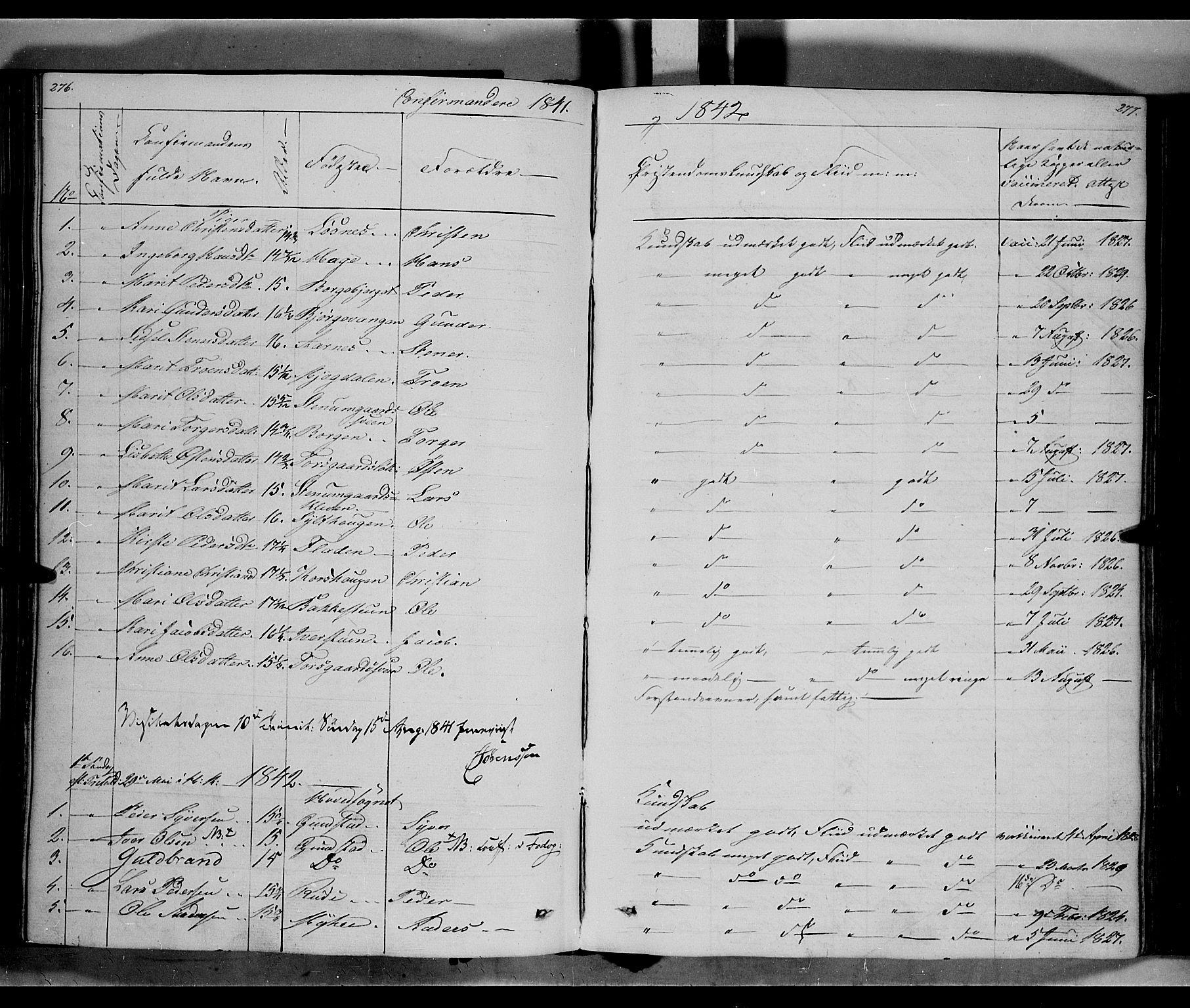 SAH, Ringebu prestekontor, Ministerialbok nr. 5, 1839-1848, s. 276-277
