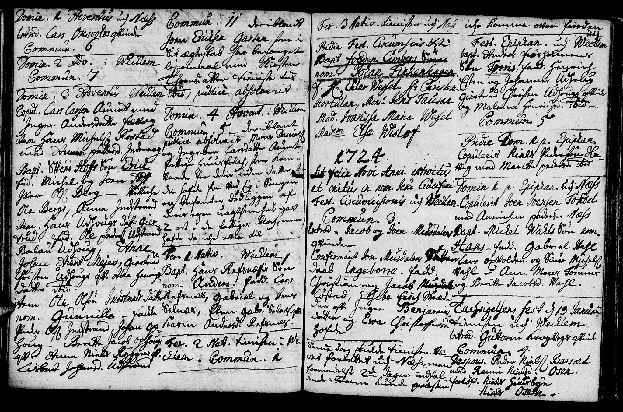 SAT, Ministerialprotokoller, klokkerbøker og fødselsregistre - Sør-Trøndelag, 659/L0731: Ministerialbok nr. 659A01, 1709-1731, s. 210-211