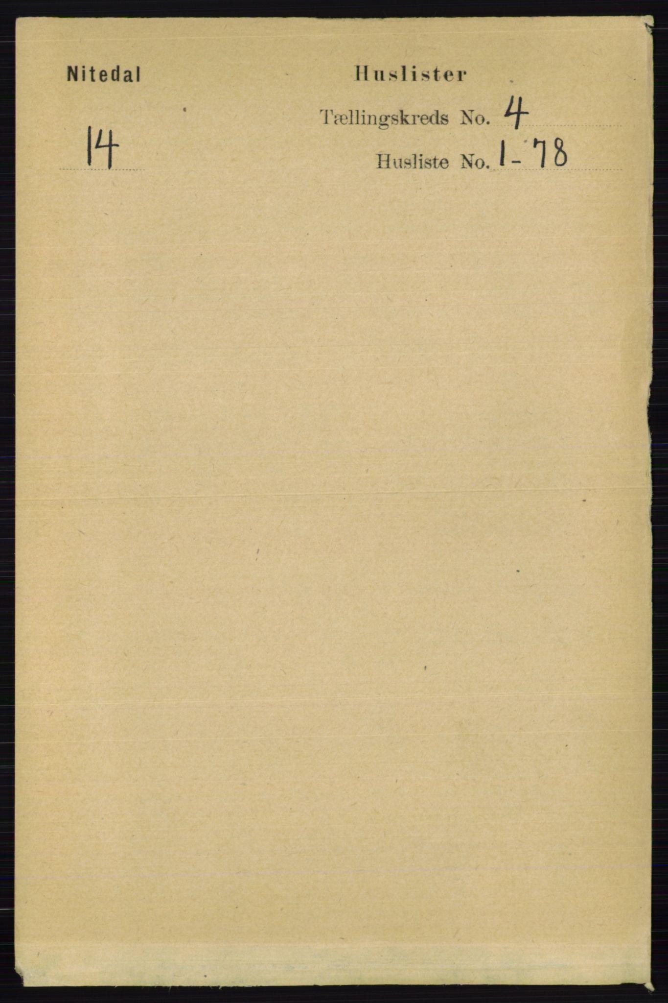RA, Folketelling 1891 for 0233 Nittedal herred, 1891, s. 1620