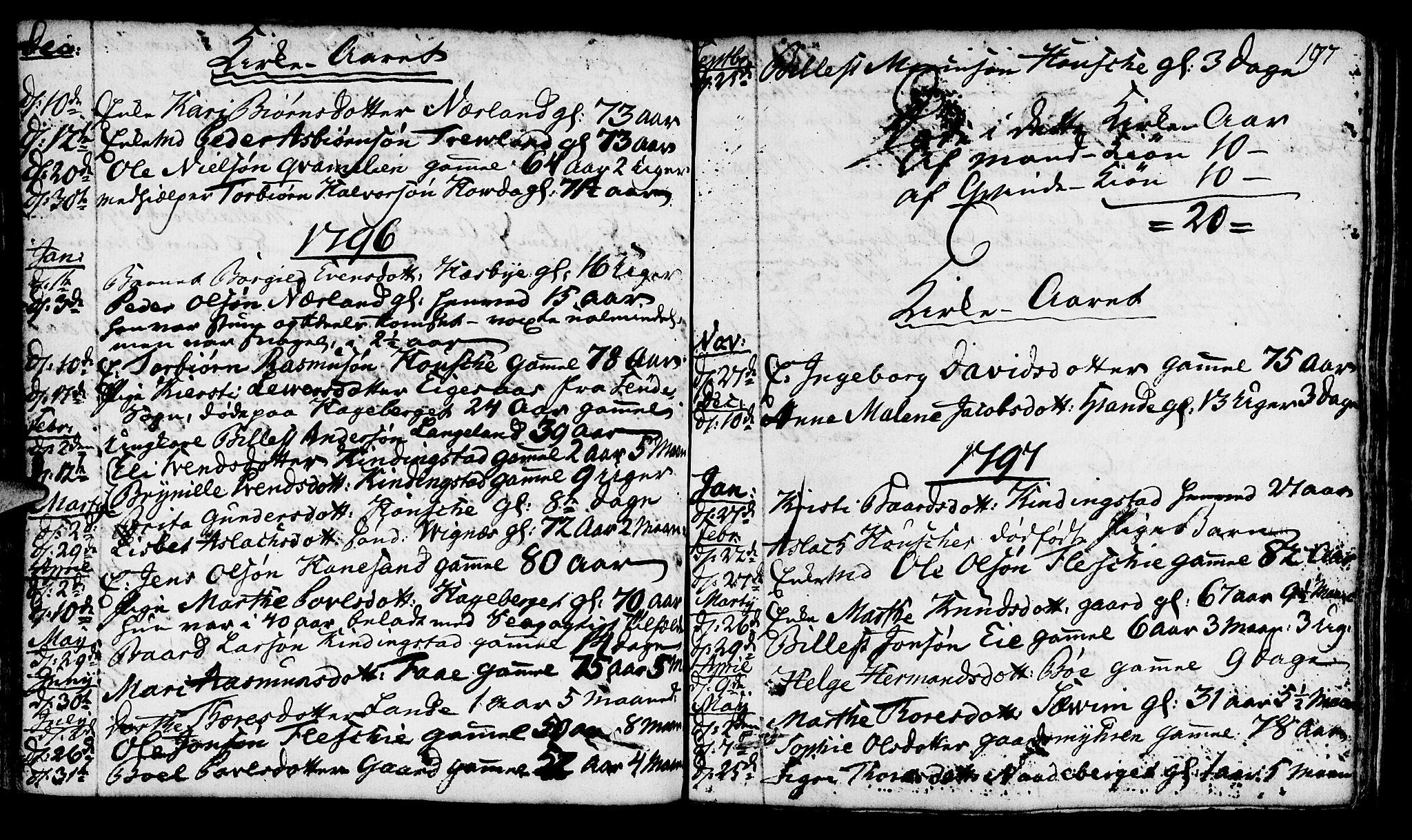 SAST, Finnøy sokneprestkontor, H/Ha/Haa/L0005: Ministerialbok nr. A 5, 1773-1816, s. 197