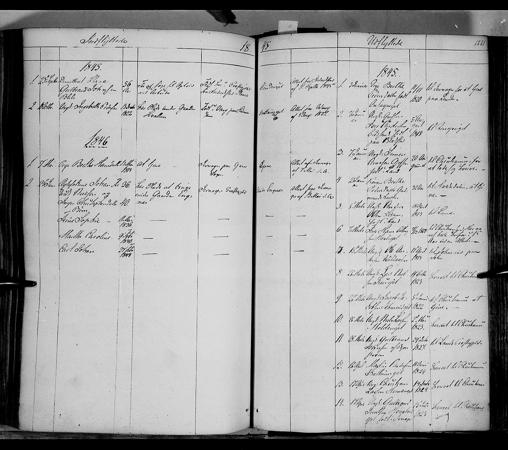 SAH, Gran prestekontor, Ministerialbok nr. 11, 1842-1856, s. 1220-1221