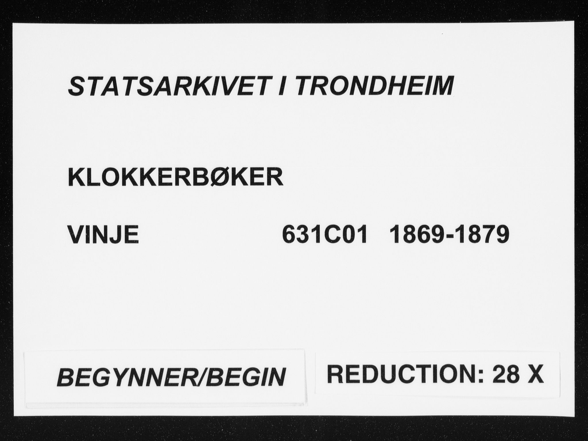 SAT, Ministerialprotokoller, klokkerbøker og fødselsregistre - Sør-Trøndelag, 631/L0513: Klokkerbok nr. 631C01, 1869-1879