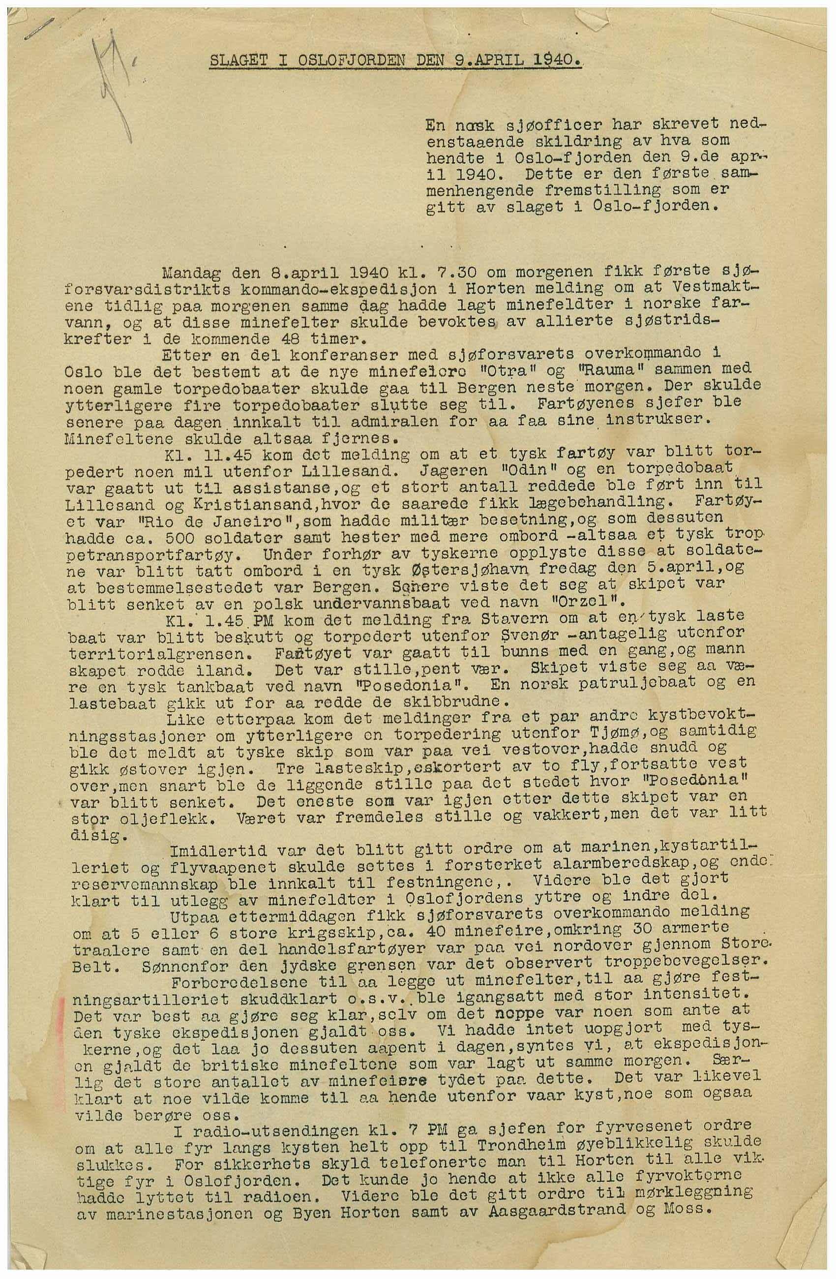 RA, Ljungberg, Birger, D/L0002: Korrespondanse, saksarkiv, 1940, s. 1