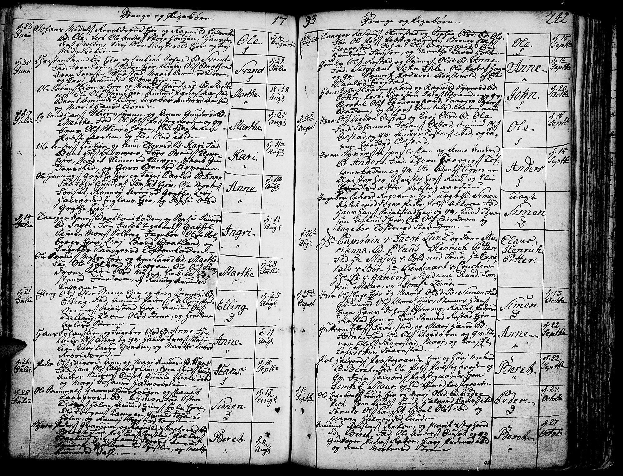 SAH, Gausdal prestekontor, Ministerialbok nr. 3, 1758-1809, s. 242