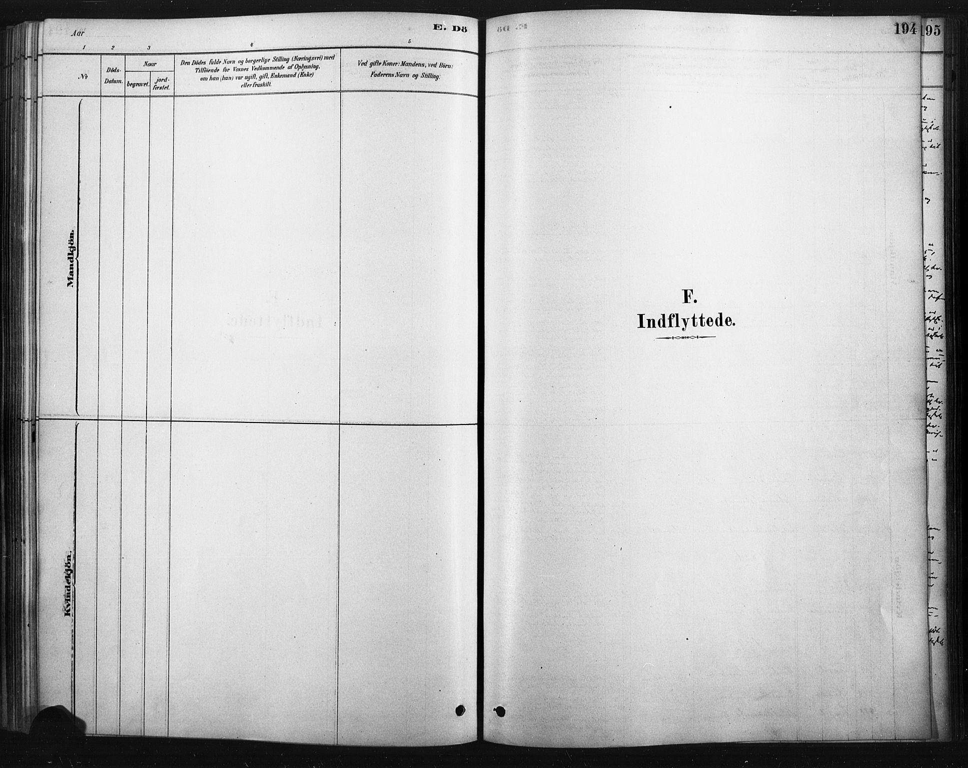 SAH, Rendalen prestekontor, H/Ha/Haa/L0010: Ministerialbok nr. 10, 1878-1901, s. 194