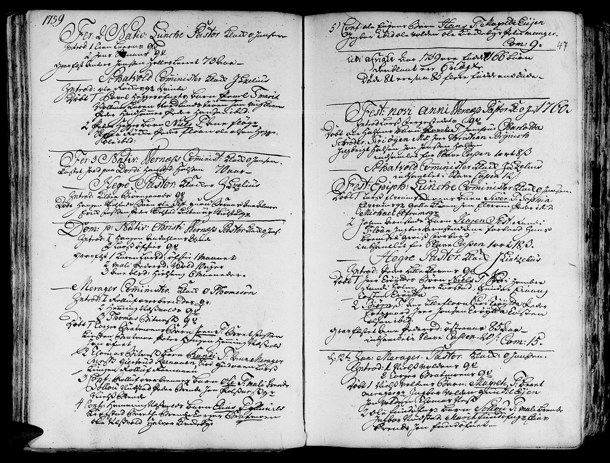 SAT, Ministerialprotokoller, klokkerbøker og fødselsregistre - Nord-Trøndelag, 709/L0057: Ministerialbok nr. 709A05, 1755-1780, s. 47