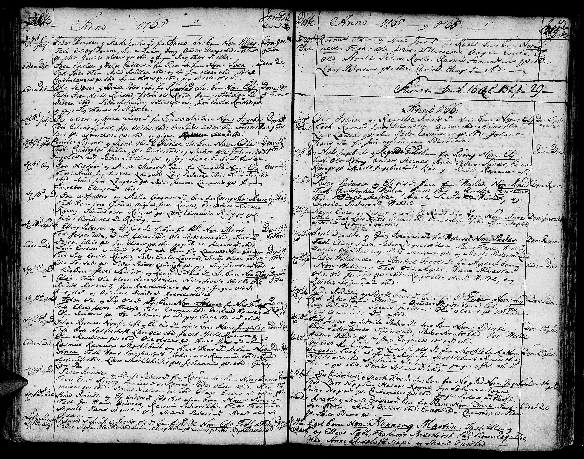SAT, Ministerialprotokoller, klokkerbøker og fødselsregistre - Møre og Romsdal, 536/L0493: Ministerialbok nr. 536A02, 1739-1802, s. 218-219