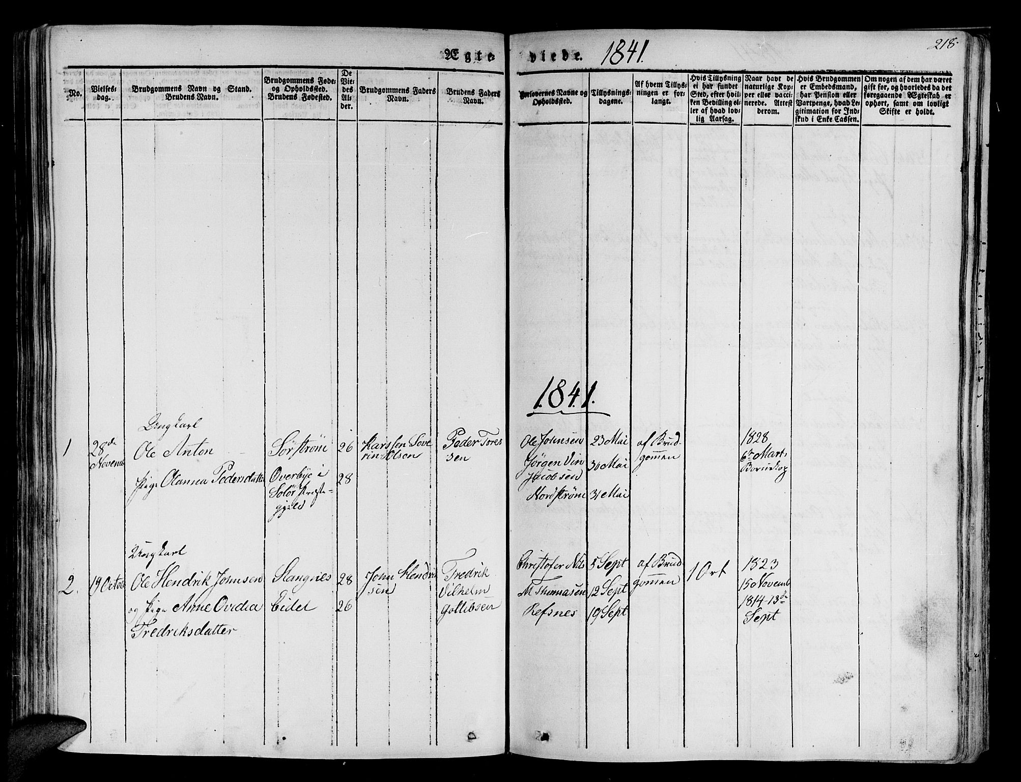 SATØ, Tranøy sokneprestkontor, I/Ia/Iaa/L0005kirke: Ministerialbok nr. 5, 1829-1844, s. 218