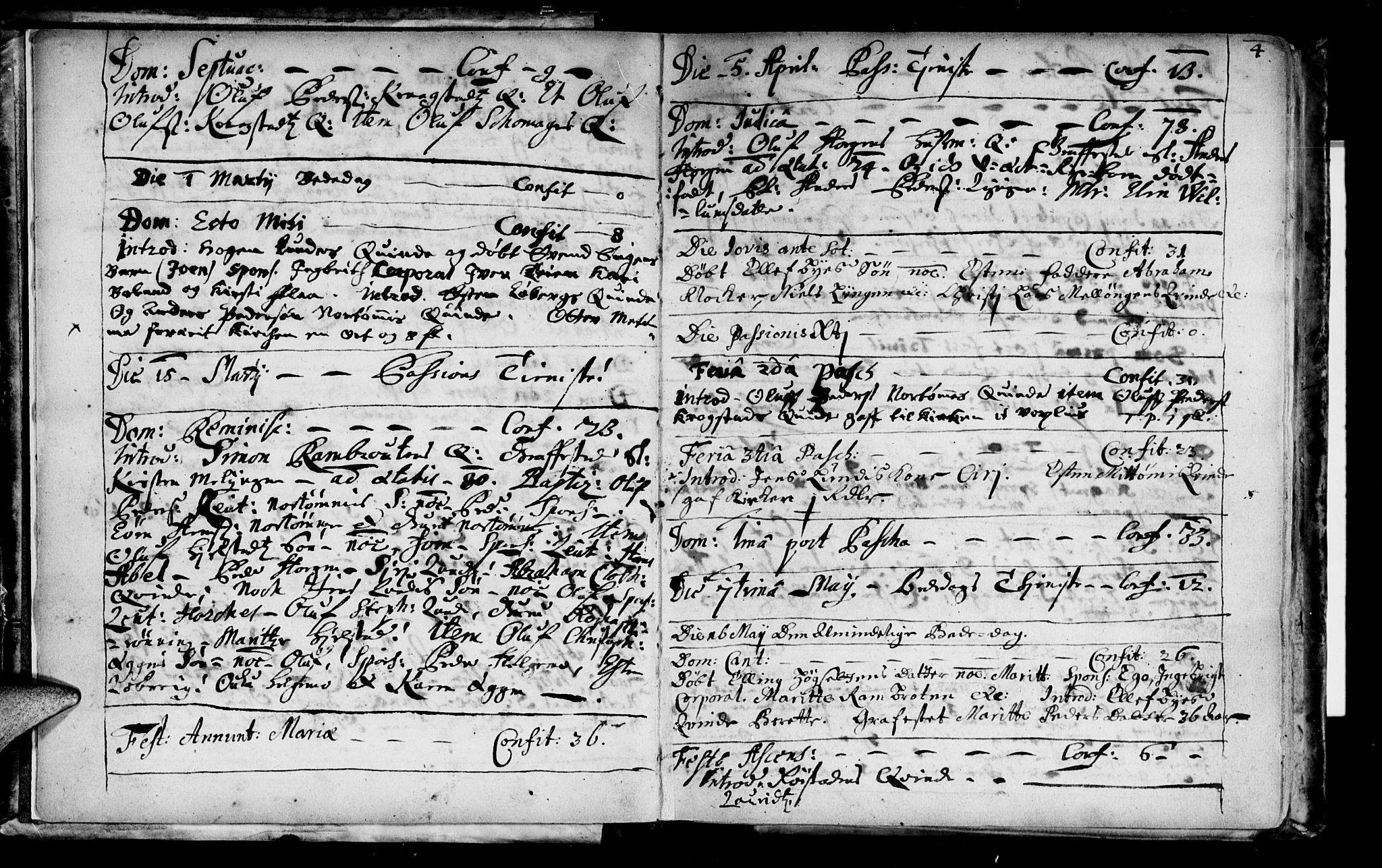 SAT, Ministerialprotokoller, klokkerbøker og fødselsregistre - Sør-Trøndelag, 692/L1101: Ministerialbok nr. 692A01, 1690-1746, s. 4