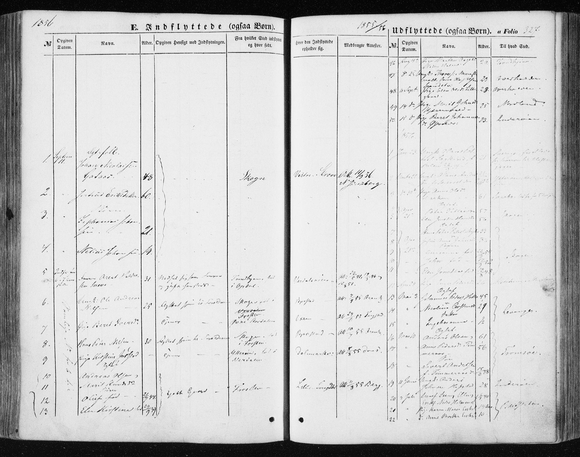 SAT, Ministerialprotokoller, klokkerbøker og fødselsregistre - Nord-Trøndelag, 723/L0240: Ministerialbok nr. 723A09, 1852-1860, s. 327