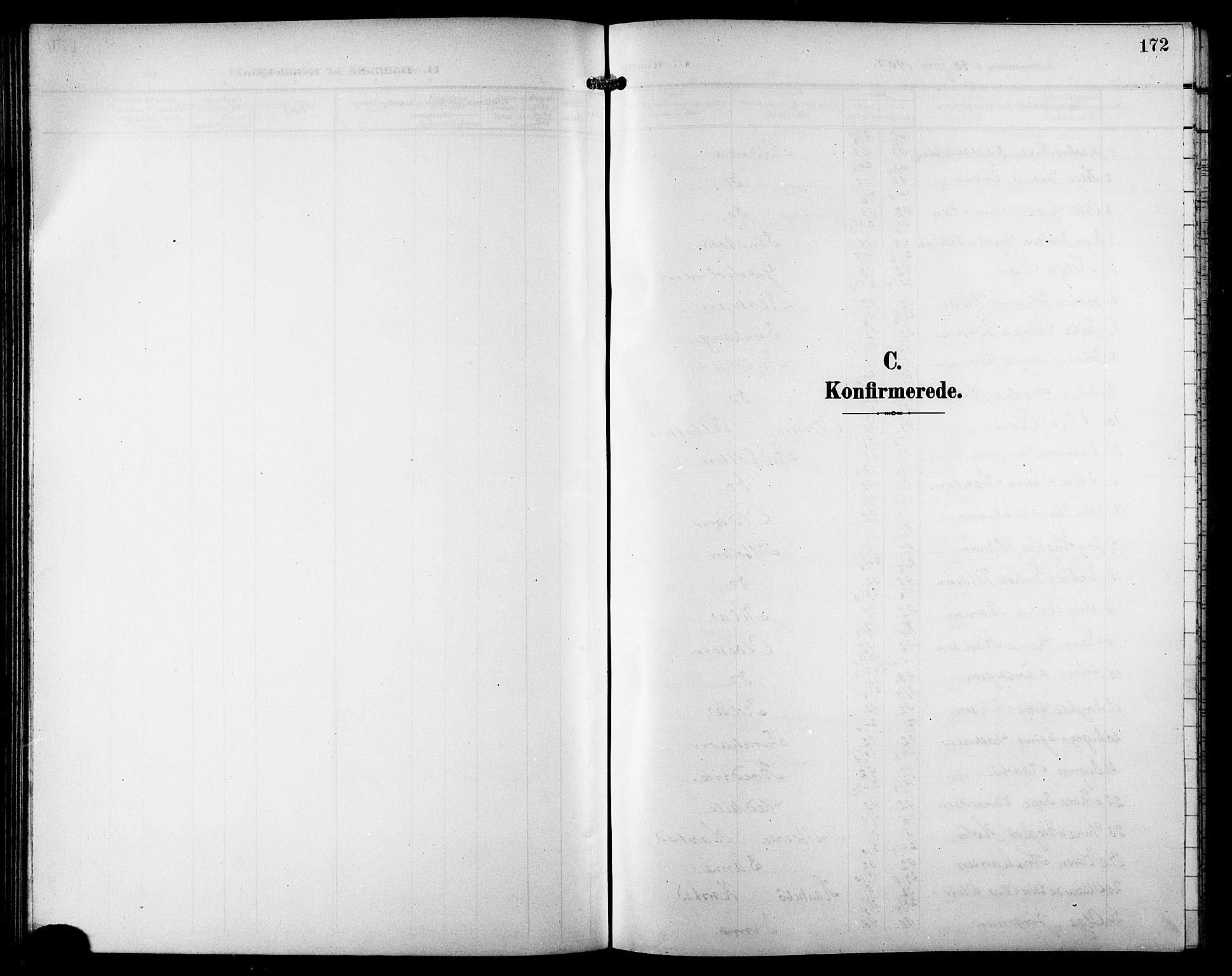 SATØ, Trondenes sokneprestkontor, H/Hb/L0012klokker: Klokkerbok nr. 12, 1907-1916, s. 172