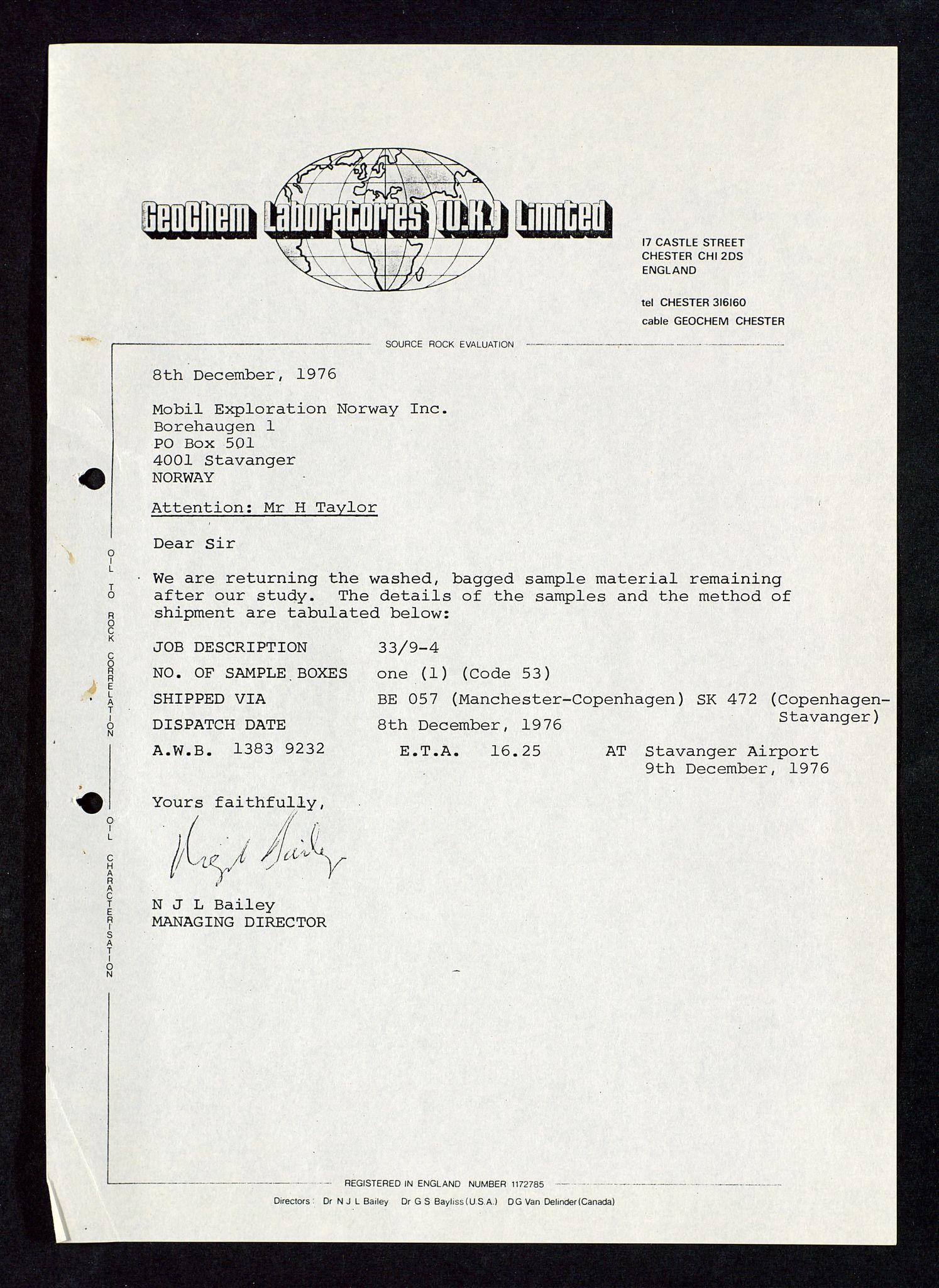 SAST, Pa 1578 - Mobil Exploration Norway Incorporated, D/Da/L0117: S.E. Smith - Sak og korrespondanse, 1973-1977, s. 573