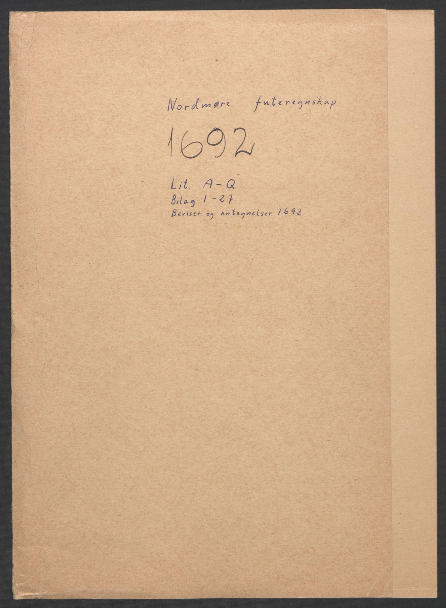 RA, Rentekammeret inntil 1814, Reviderte regnskaper, Fogderegnskap, R56/L3735: Fogderegnskap Nordmøre, 1692-1693, s. 2