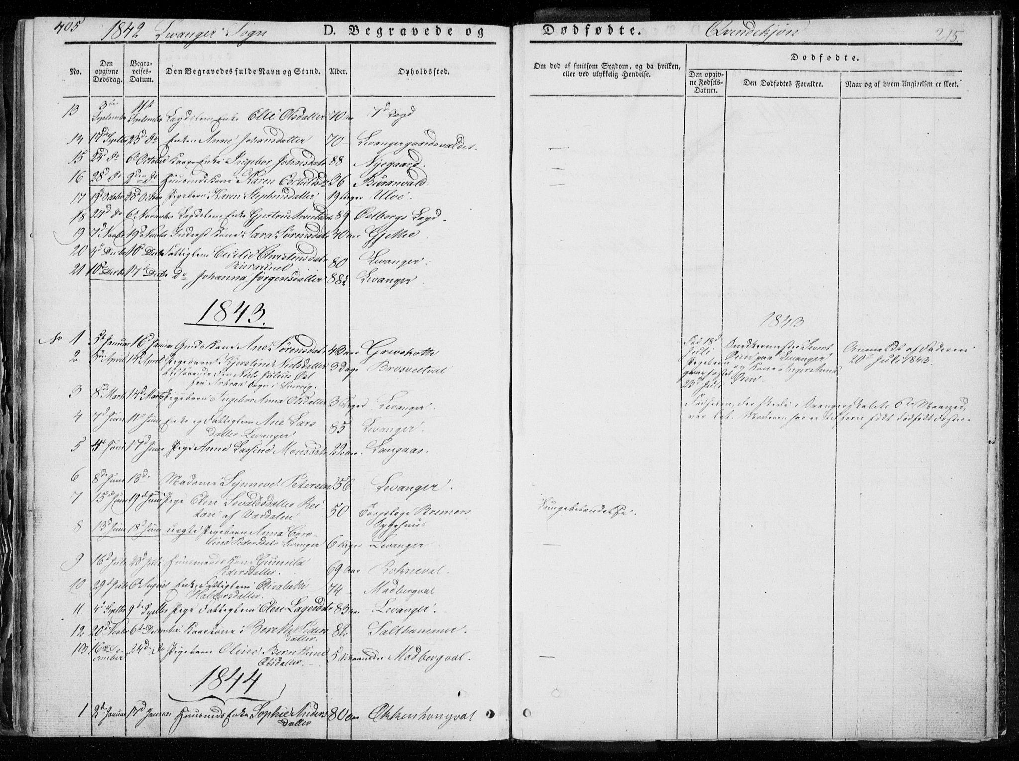 SAT, Ministerialprotokoller, klokkerbøker og fødselsregistre - Nord-Trøndelag, 720/L0183: Ministerialbok nr. 720A01, 1836-1855, s. 215