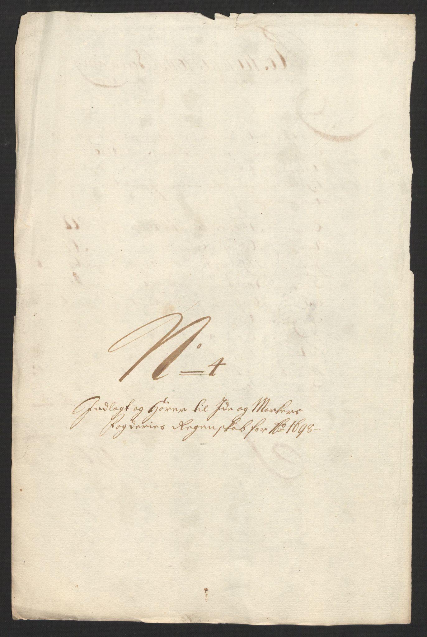 RA, Rentekammeret inntil 1814, Reviderte regnskaper, Fogderegnskap, R01/L0013: Fogderegnskap Idd og Marker, 1696-1698, s. 340