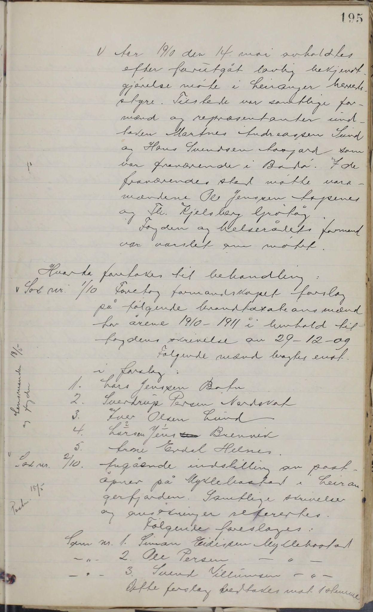 AIN, Leiranger kommune. Formannskapet, 100/L0001: Møtebok, 1900-1913, s. 195