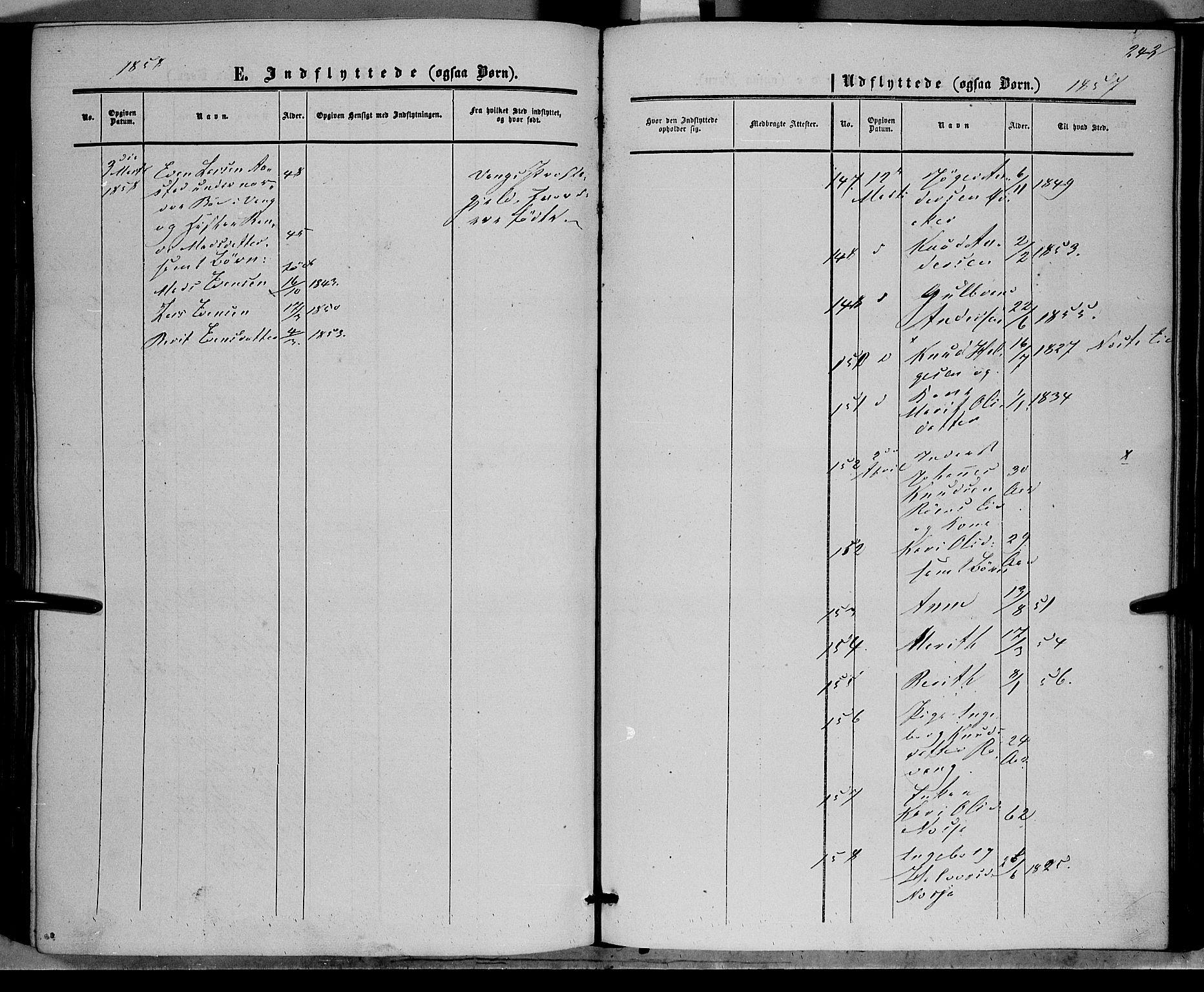 SAH, Vestre Slidre prestekontor, Ministerialbok nr. 2, 1856-1864, s. 242