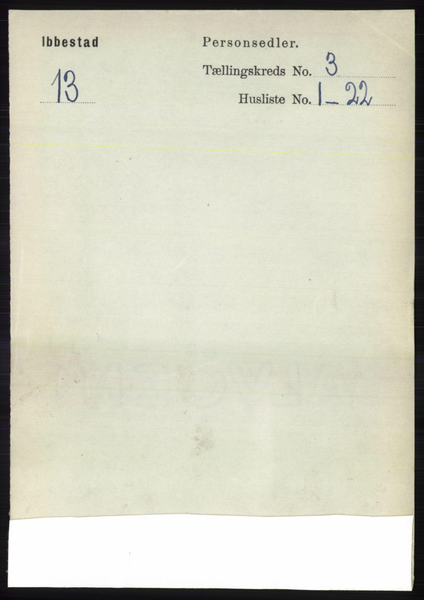 RA, Folketelling 1891 for 1917 Ibestad herred, 1891, s. 1715