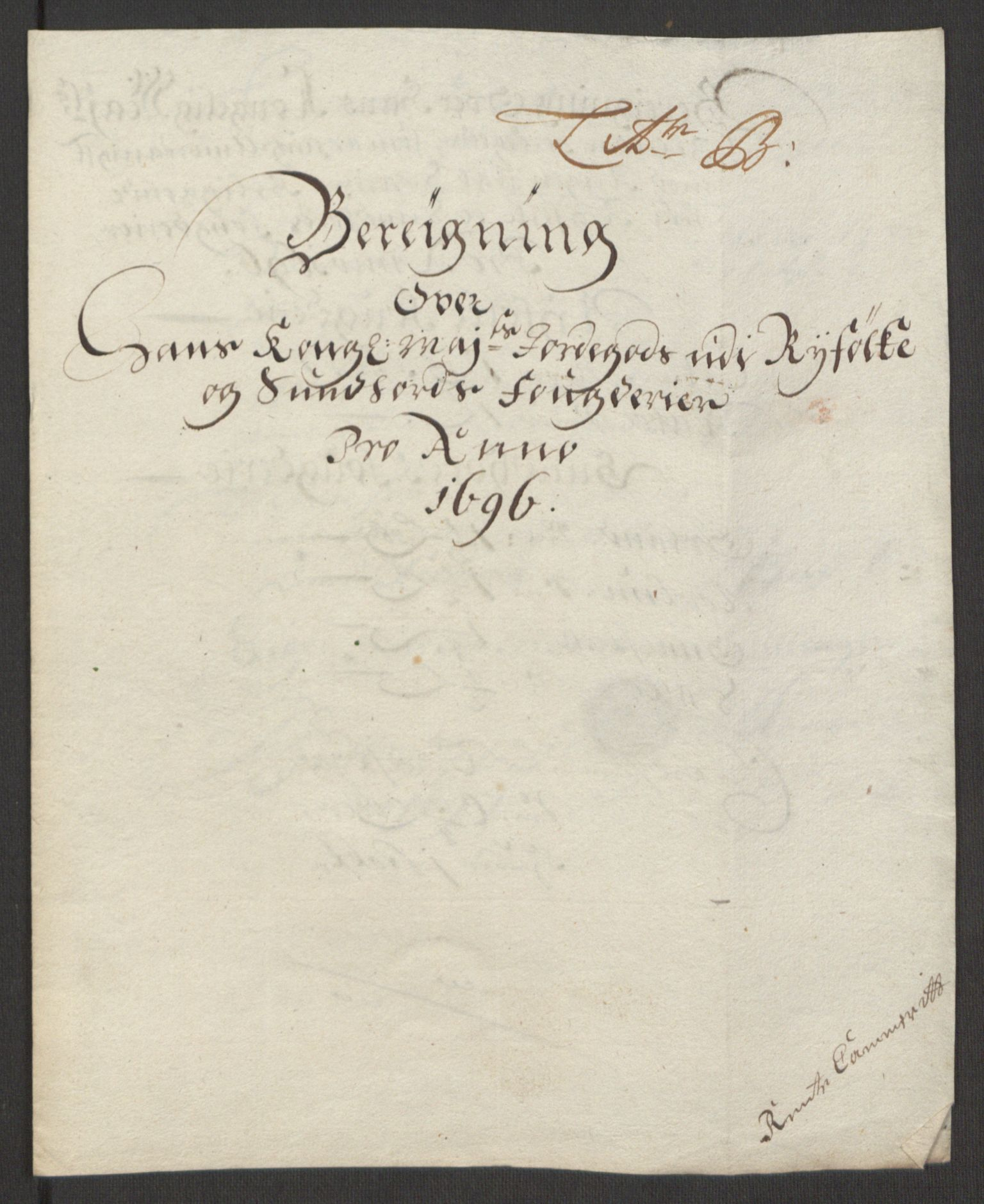 RA, Rentekammeret inntil 1814, Reviderte regnskaper, Fogderegnskap, R48/L2976: Fogderegnskap Sunnhordland og Hardanger, 1695-1696, s. 356