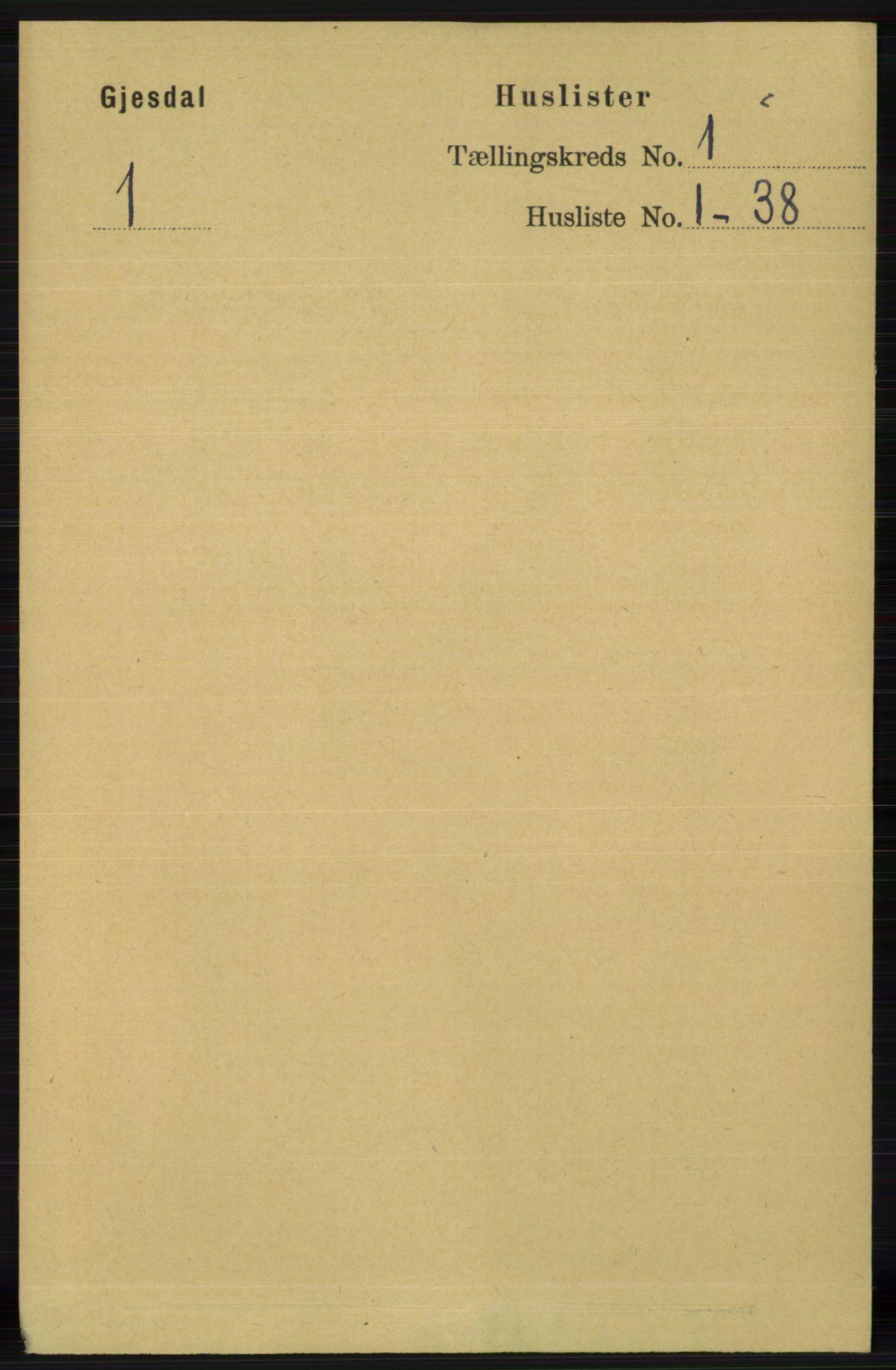 RA, Folketelling 1891 for 1122 Gjesdal herred, 1891, s. 18