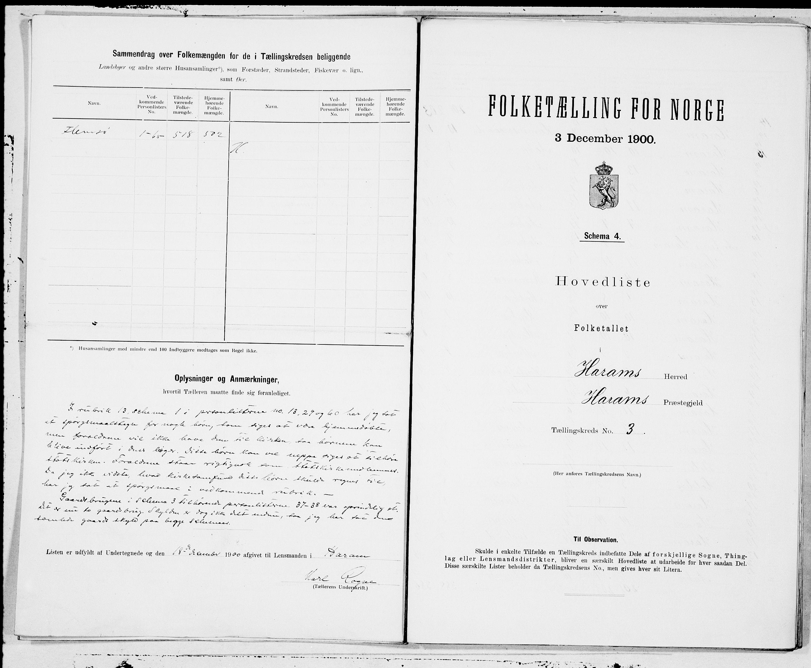 SAT, Folketelling 1900 for 1534 Haram herred, 1900, s. 6