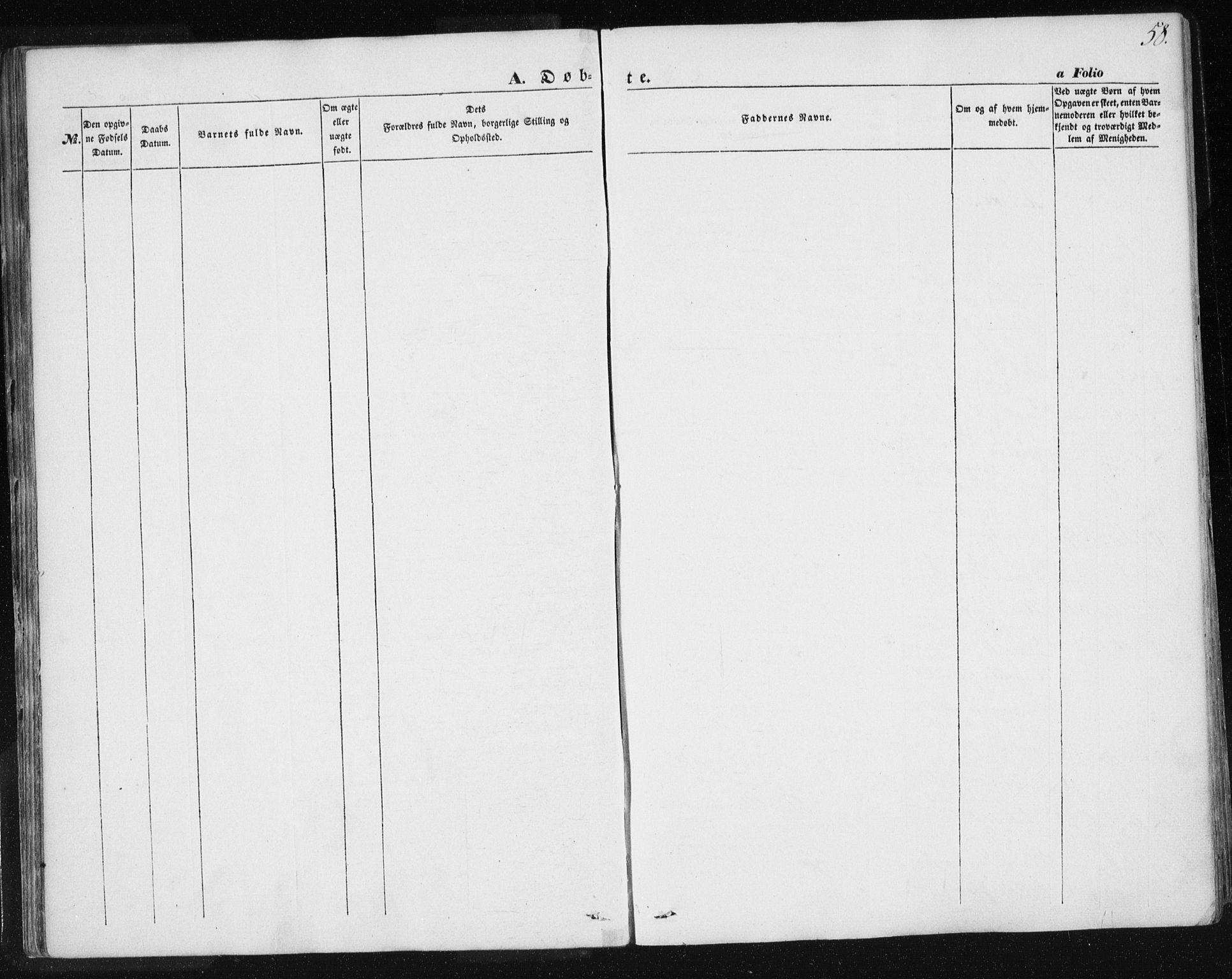 SAT, Ministerialprotokoller, klokkerbøker og fødselsregistre - Sør-Trøndelag, 685/L0964: Ministerialbok nr. 685A06 /2, 1846-1859, s. 58